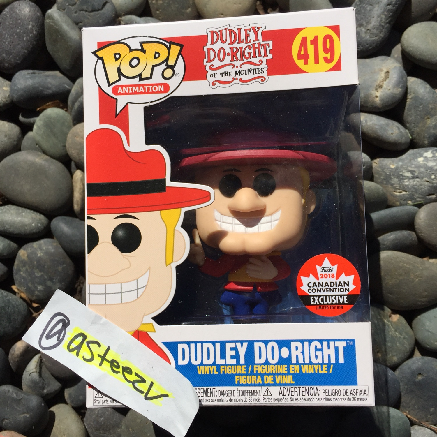 Funko Pop #419 Dudley Do-Right Limited Edition