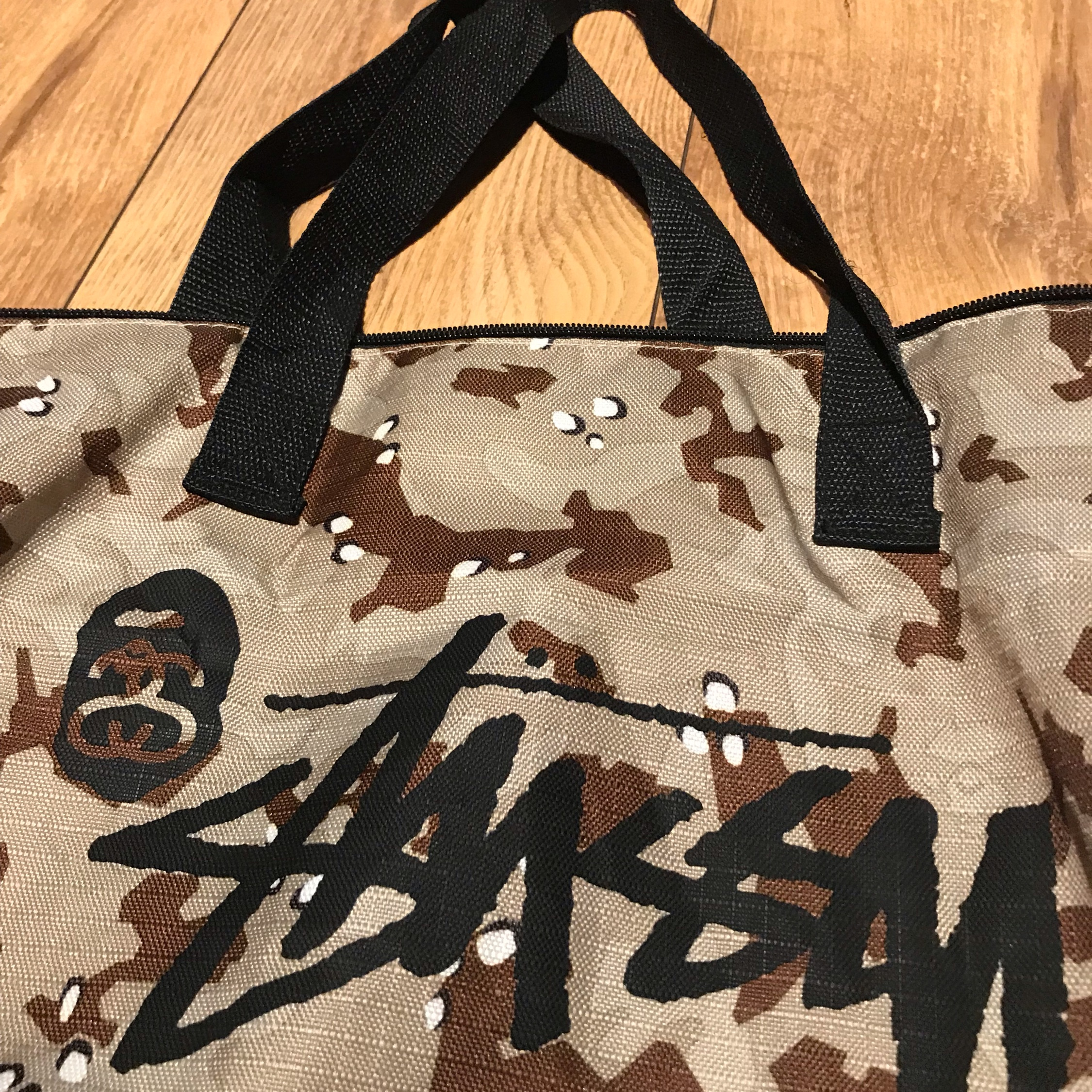 A Bathing Ape X Stussy Nylon Tote Bag Bape