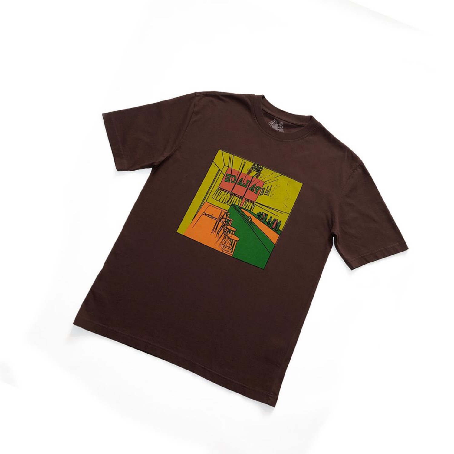 Palace Scheisse Face Tee Brown Size Medium
