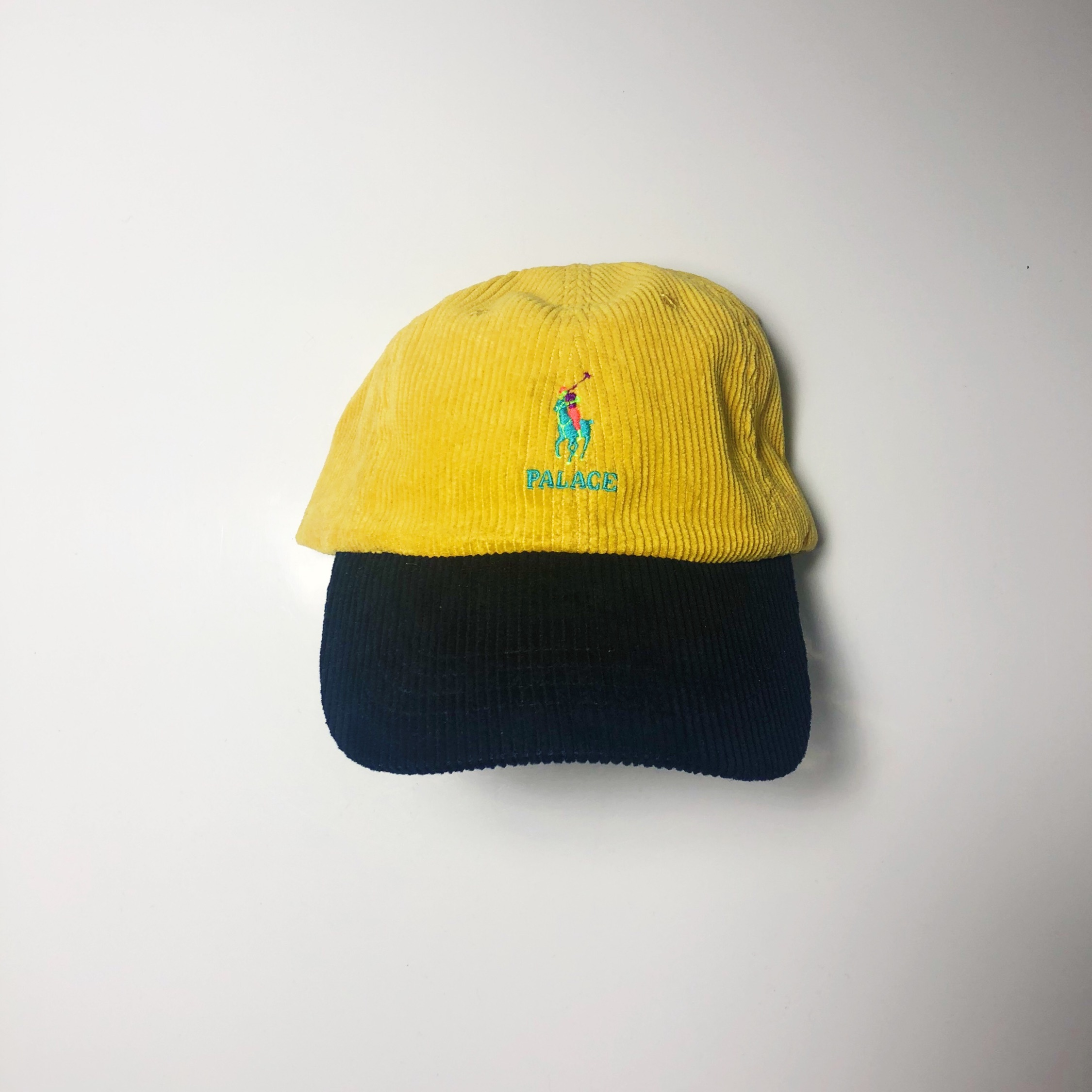 Palace Polo Ralph Lauren Corduroy Yellow Cap Hat