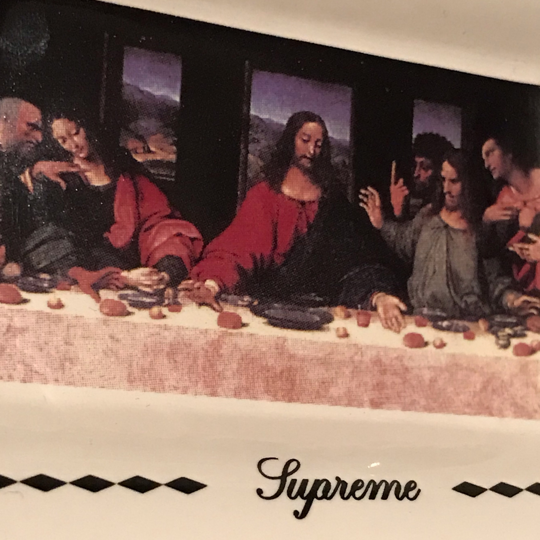Fw12 Supreme Last Supper Ceramic Ash Tray