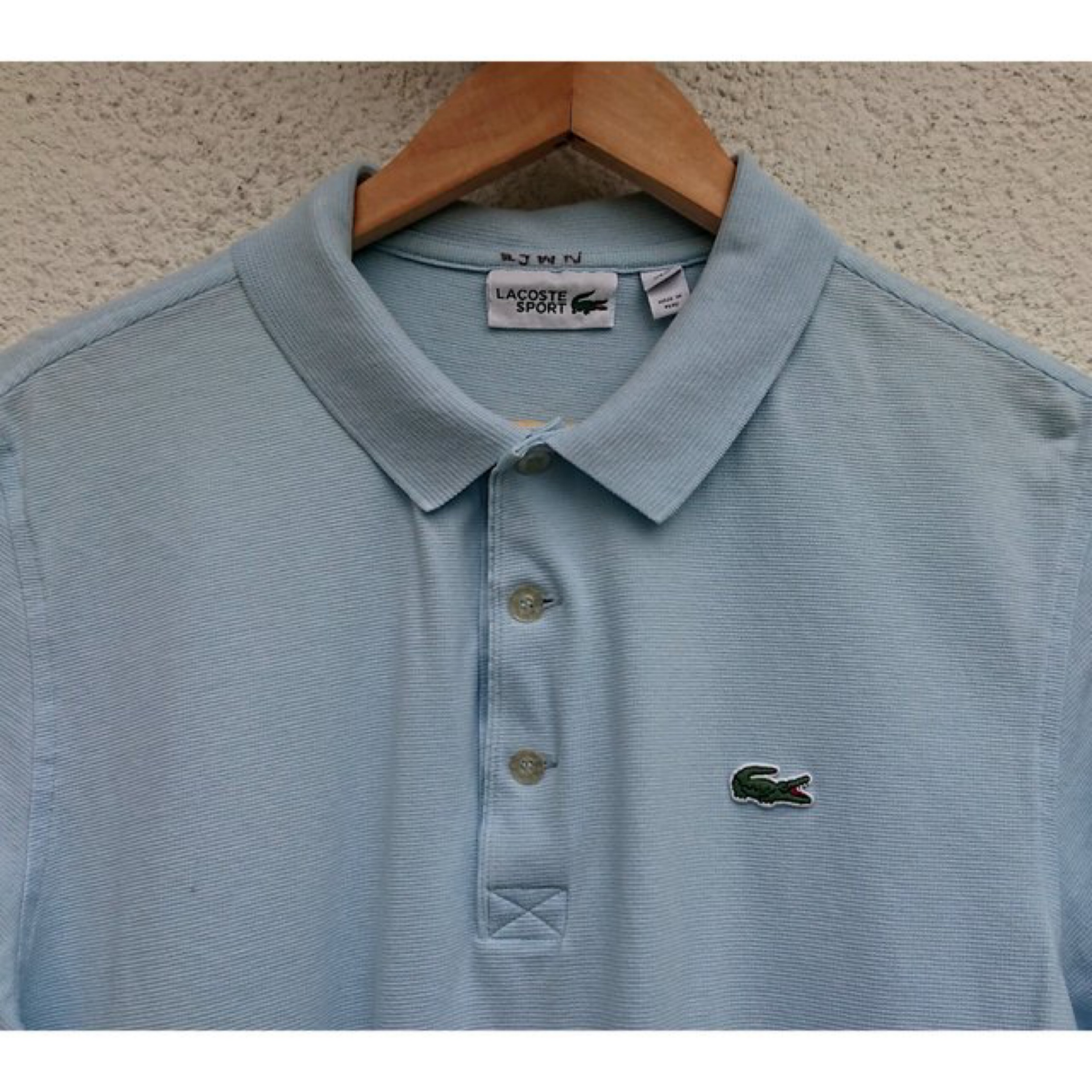 Vintage Lacoste Polo Shirt, Light Blue