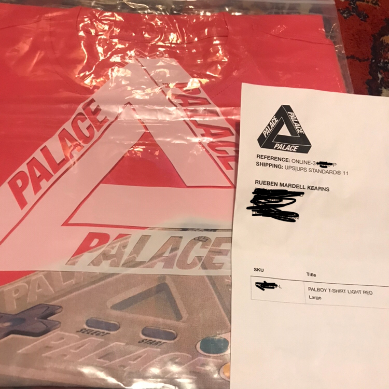 Palace Skateboards Palboy Tee/Light Red/Large