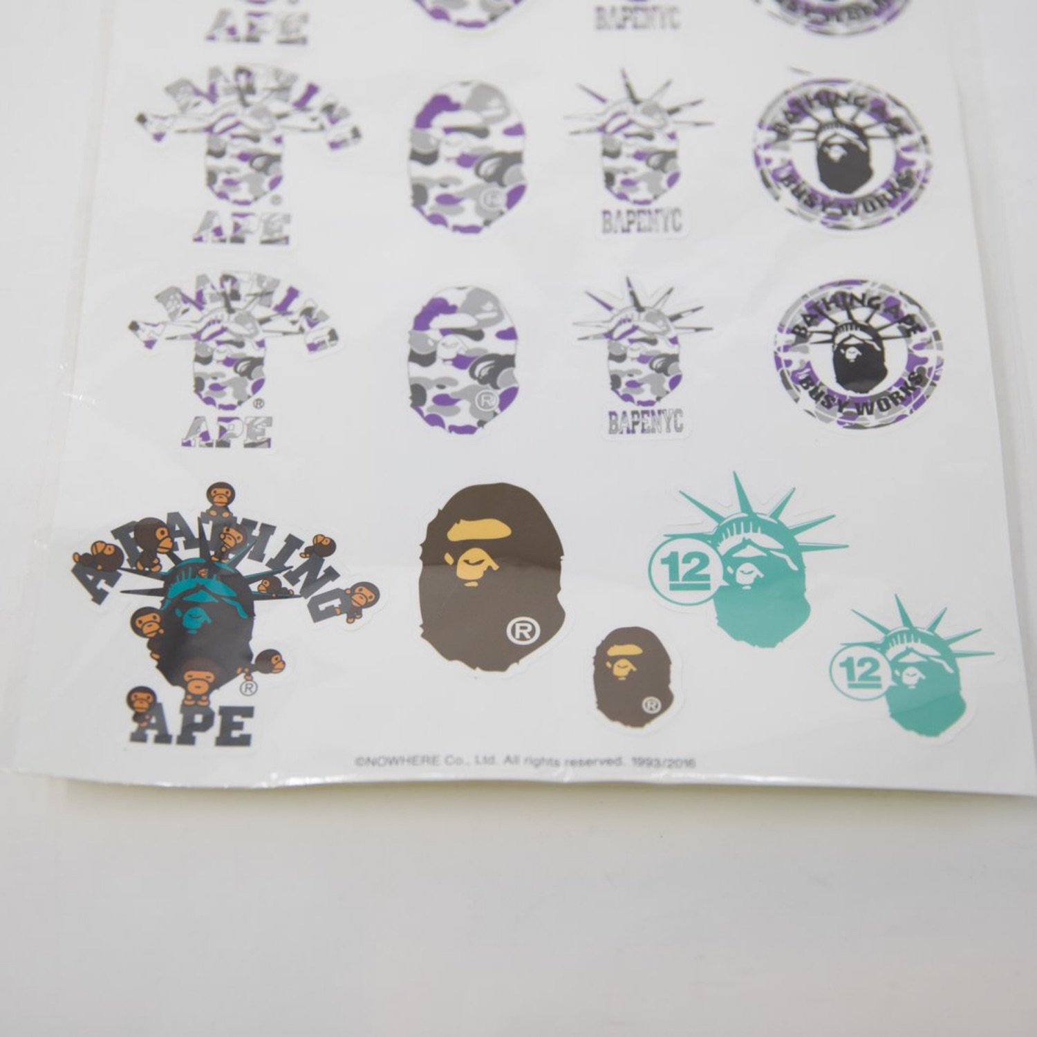 Bape Nyc Sticker Sheet (Mint)