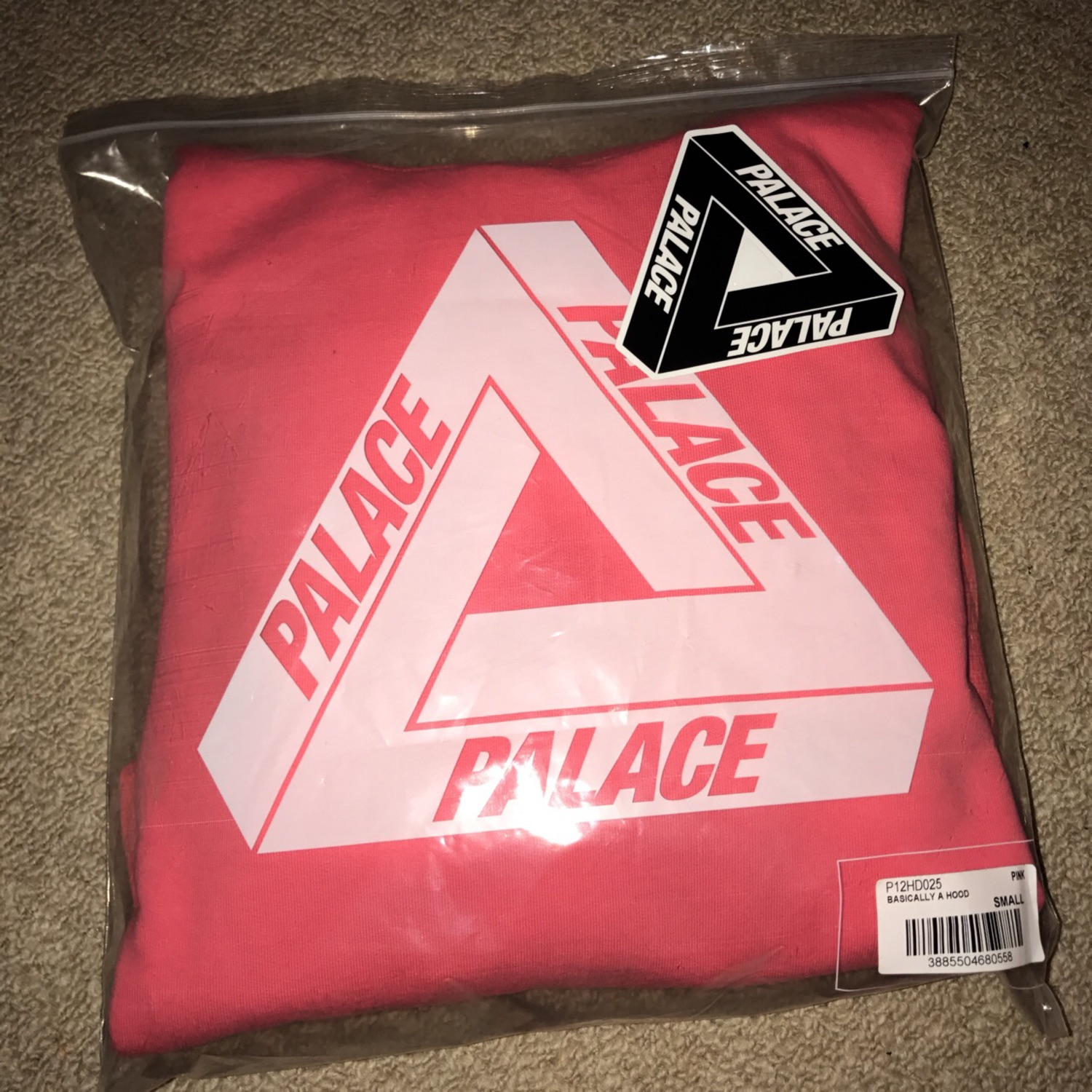 Palace Basically A Pink Hoodie