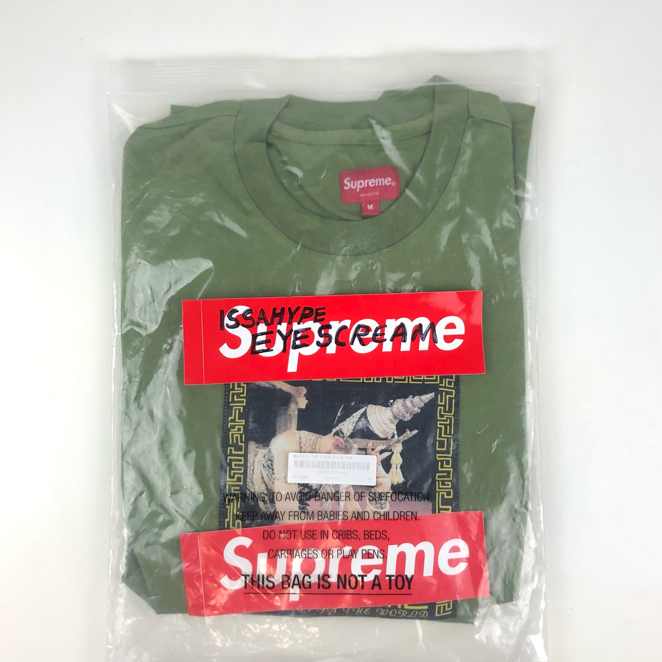 Ds Supreme Best In The World Ls Tee Olive M Bogo