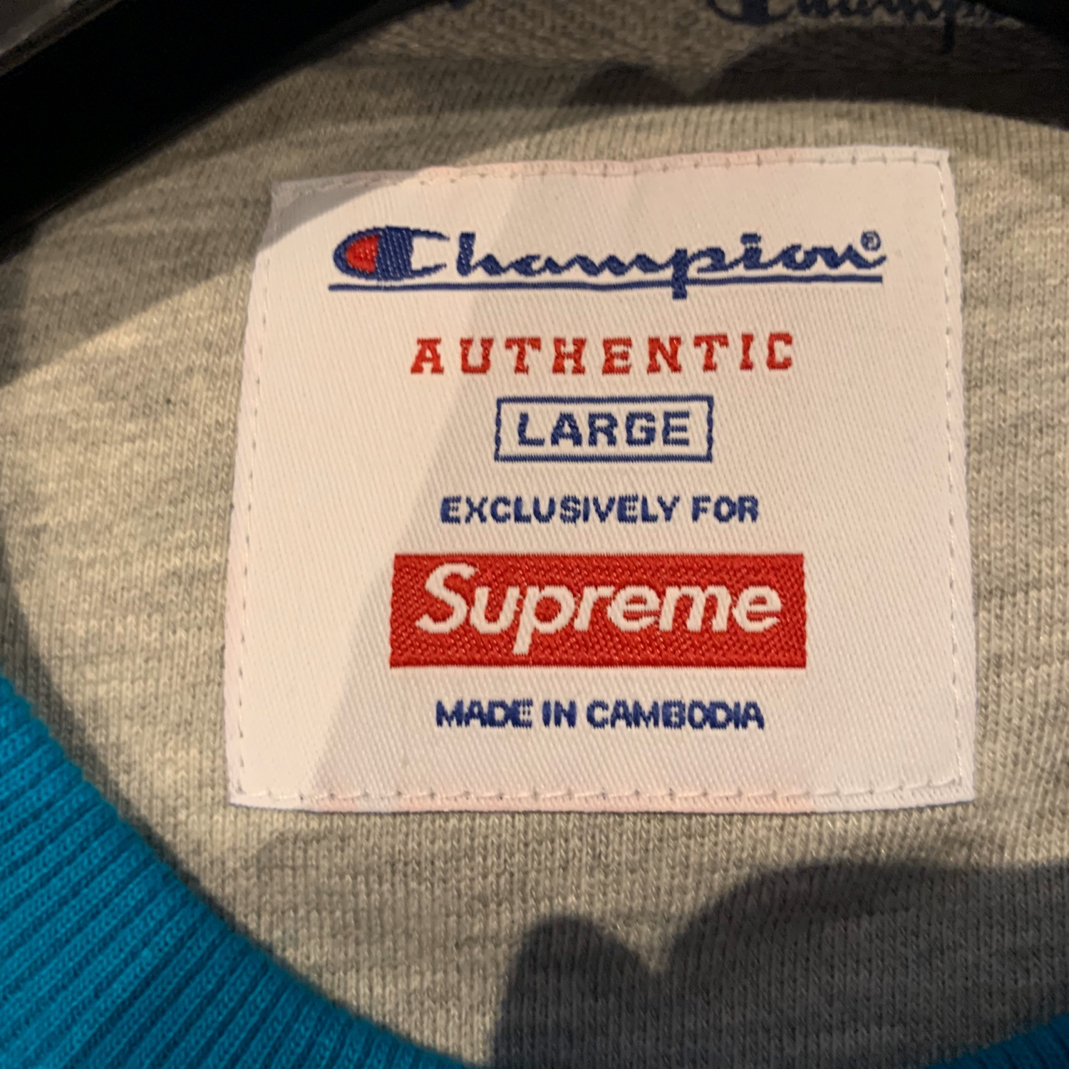 Supreme X Champion Teal Crewneck