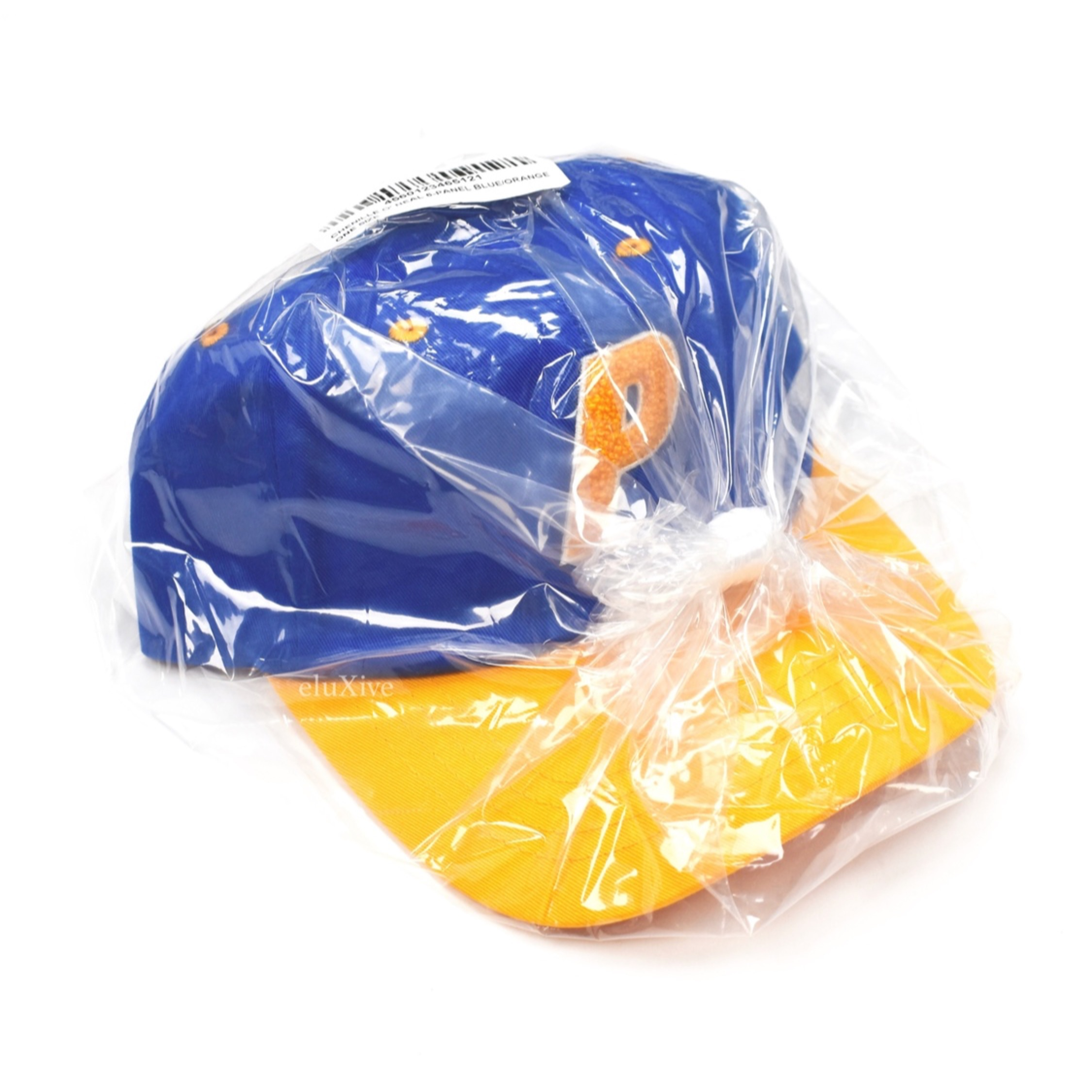 Palace Blue Yellow Chenille P Logo Hat Ds