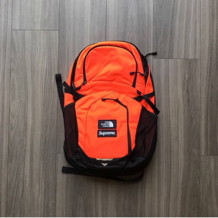Supreme X TNF Backpack Orange