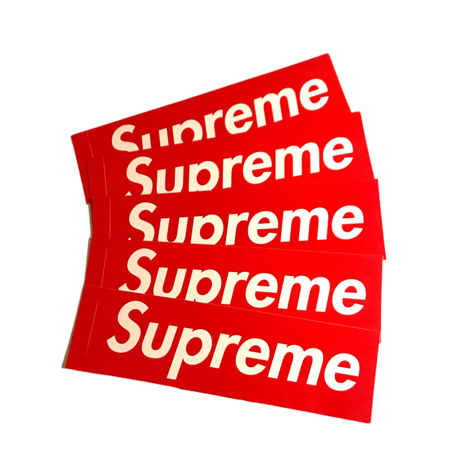 5X Supreme Box Logo Stickers