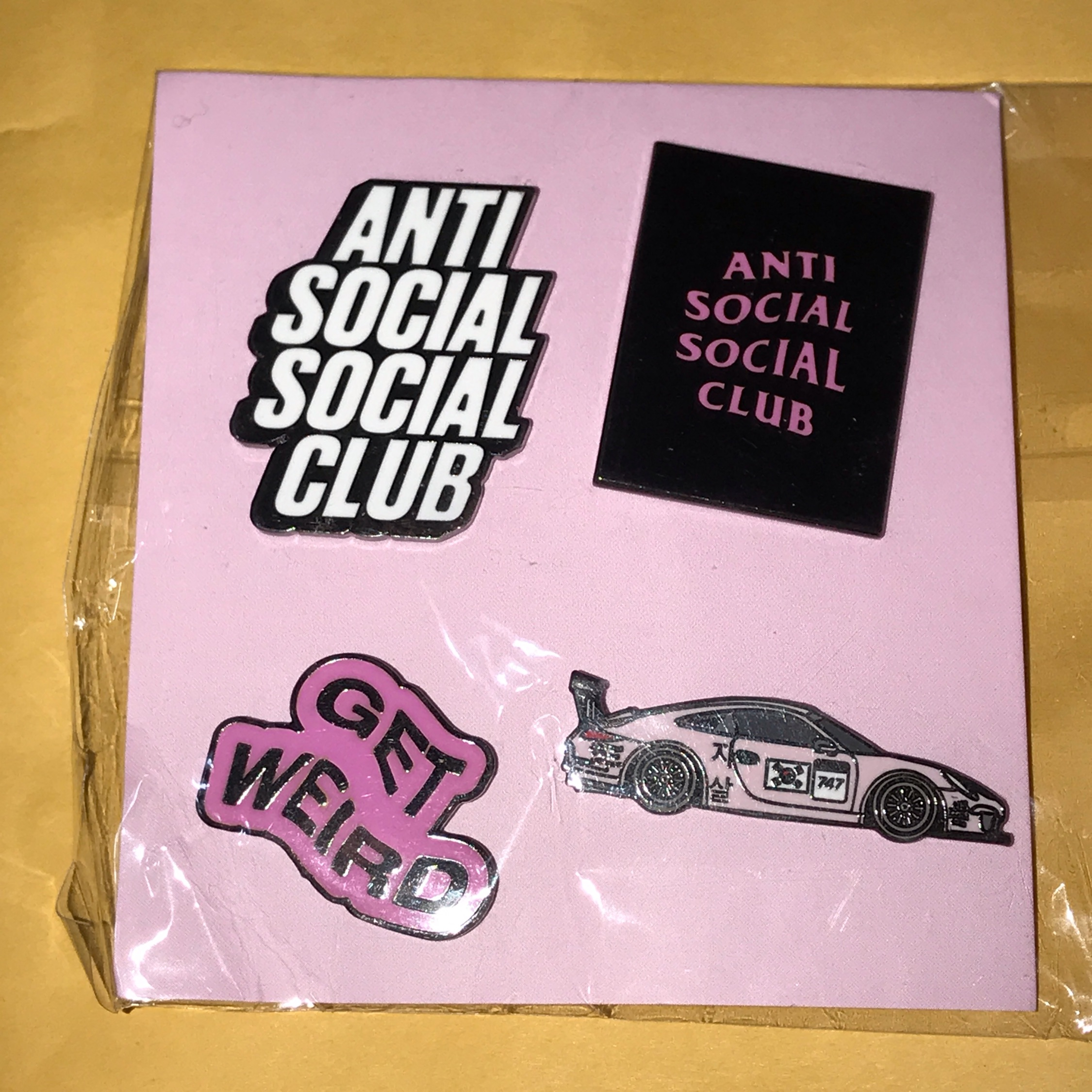 Anti Social Social Club Pin Badge Set