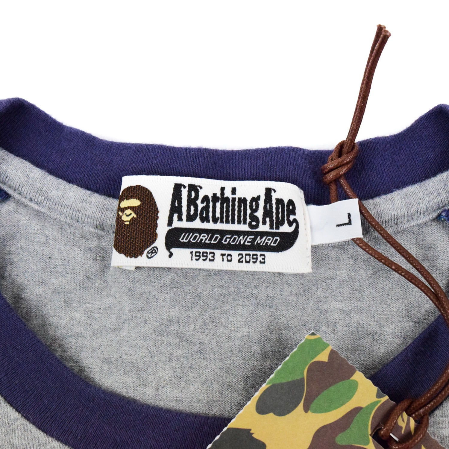 Brand New Bathing Ape Cyber Logo 3/4 Sleeve Shirt