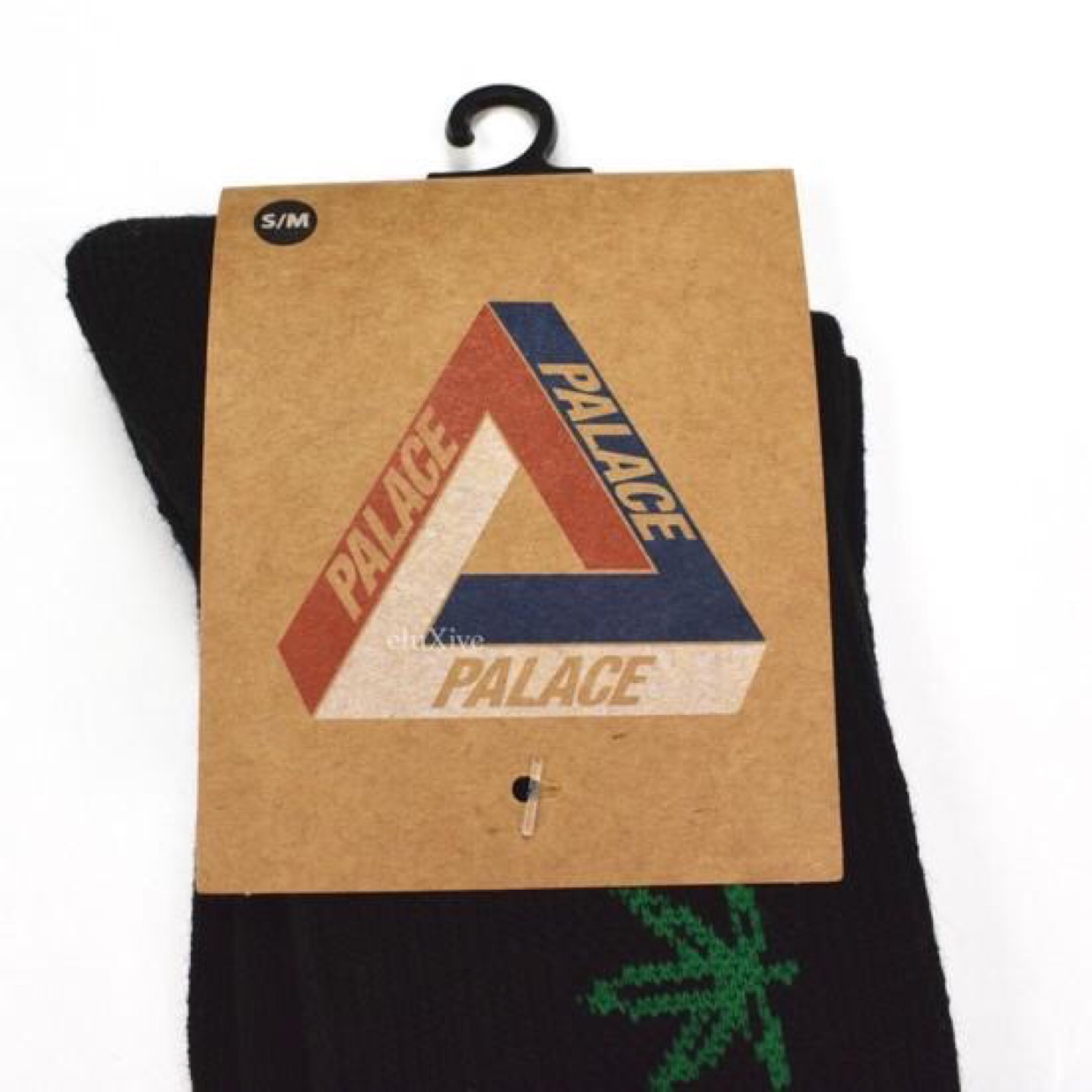 Palace 'Pwlwce' Logo Black Socks Ds