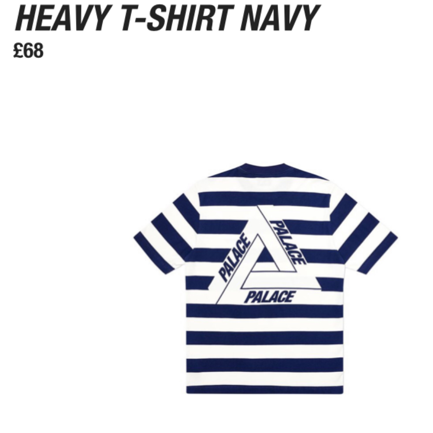 Palace Heavy Tee In Navy Large