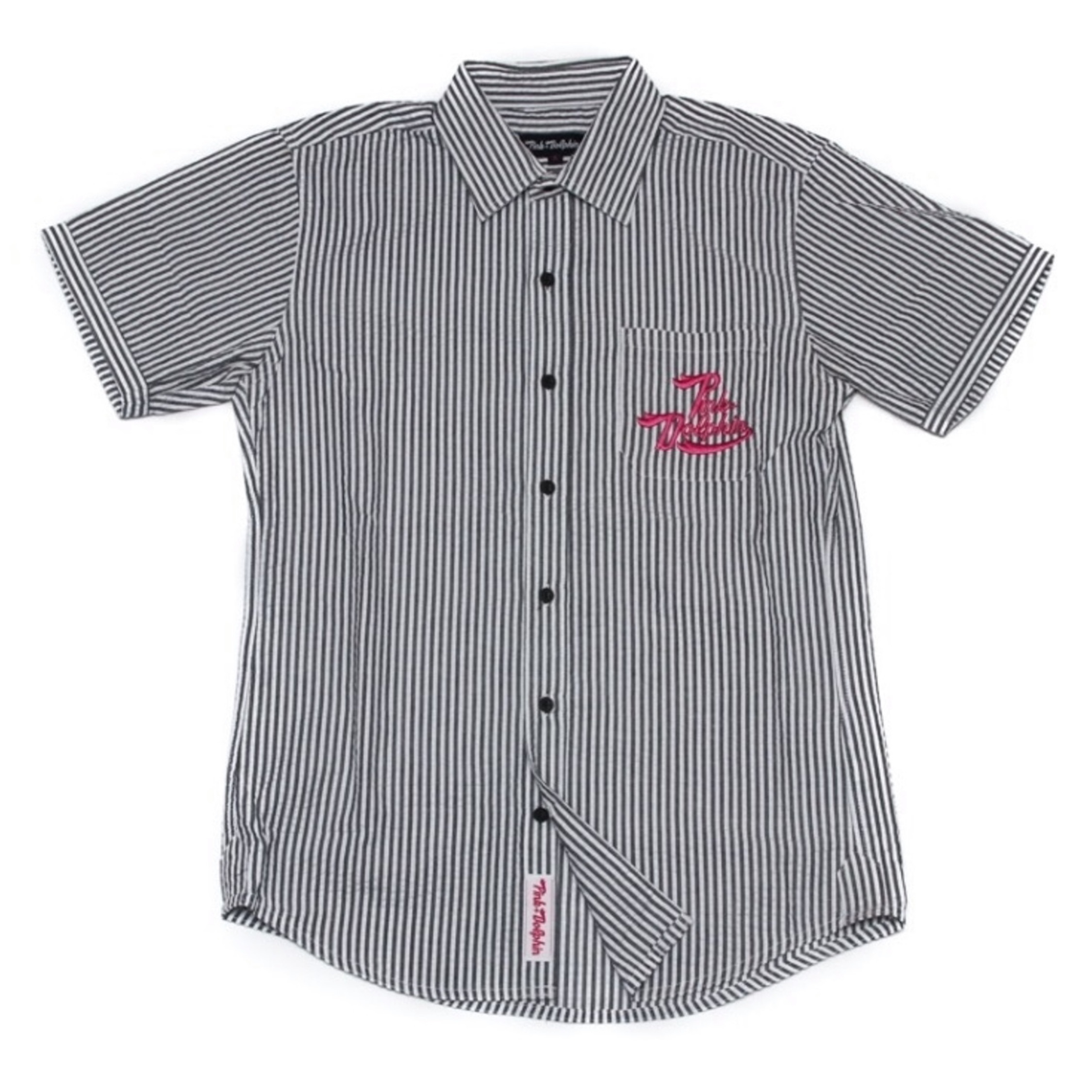 Pink Dolphin Script Button Up
