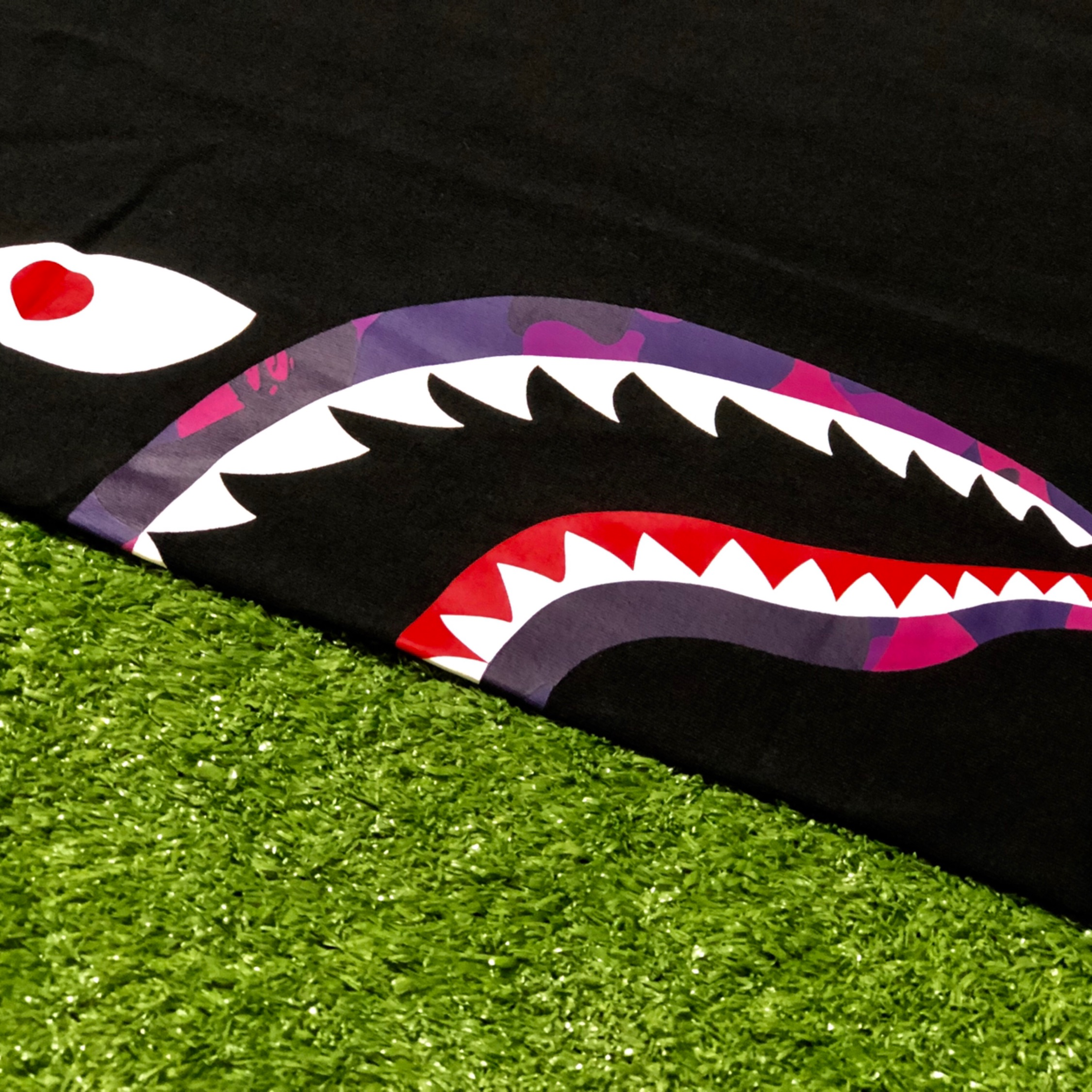 Bape Colour Camo Side Shark Tee