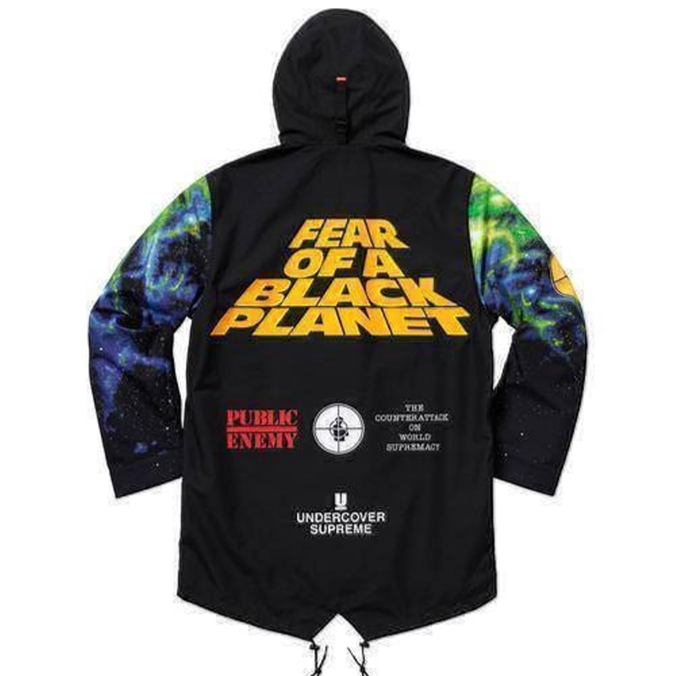 Supreme X Undercover Public Enemy Taped Seam Parka