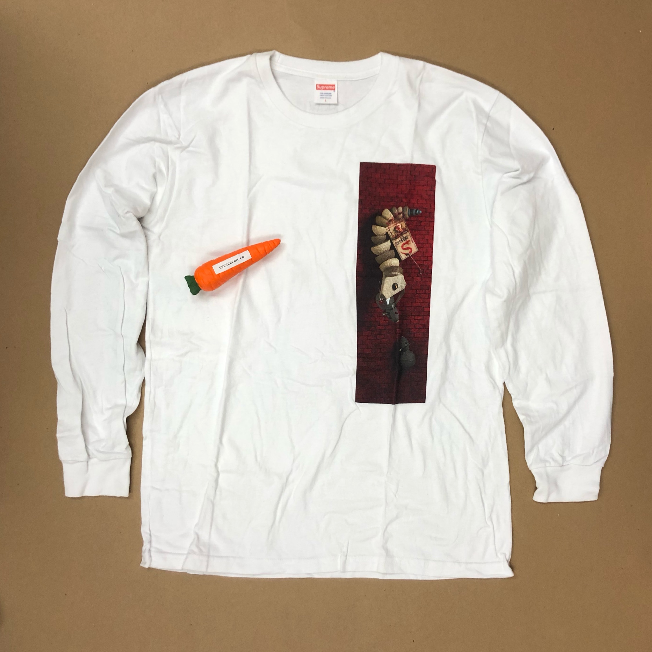 Supreme Mike Hill Snake Ls Tee White L