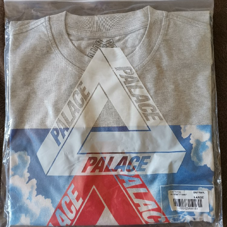Palace Skateboards Tri-Ternity Tee Grey Marl Large - SS19 - DS *IN HAND*