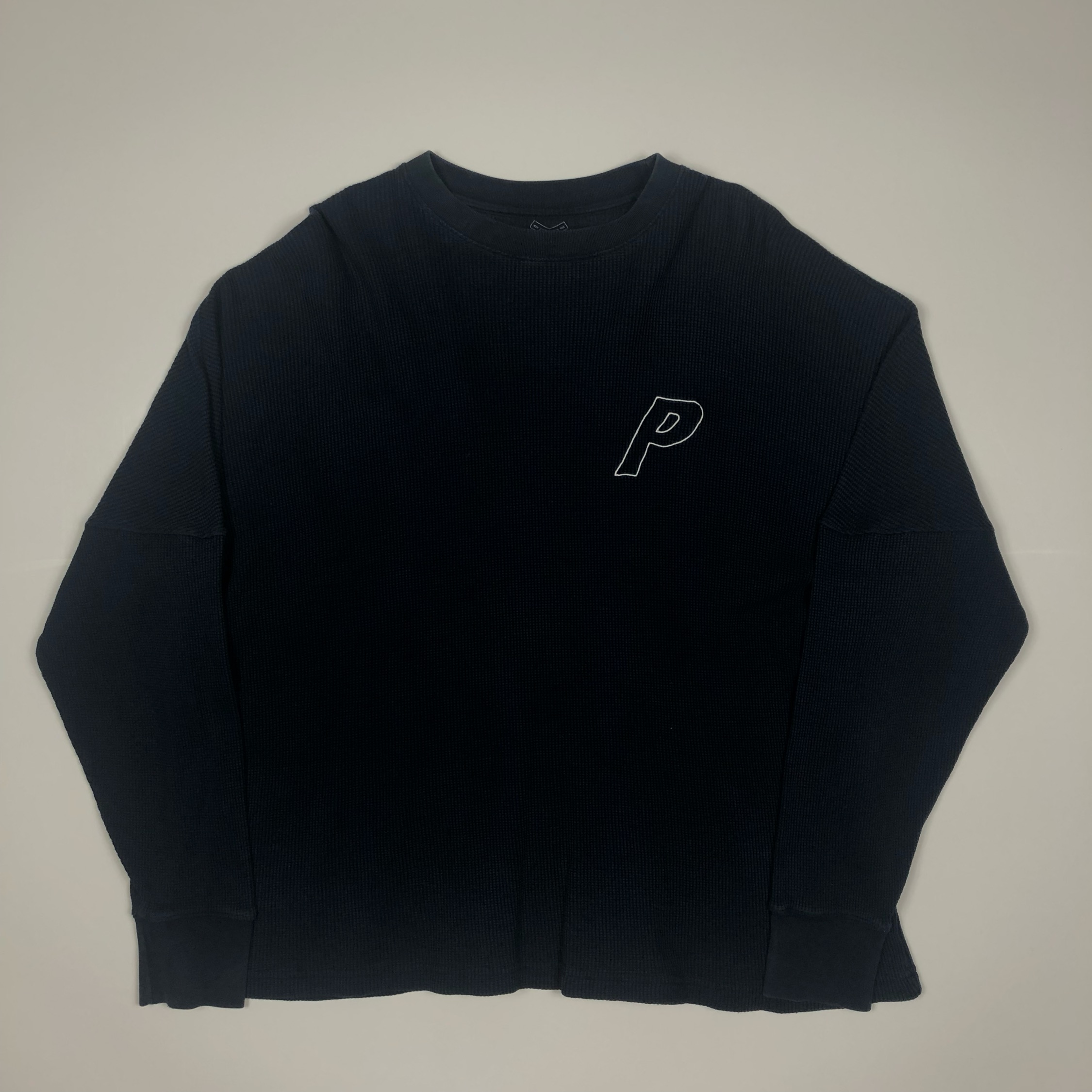 Palace Thermal Outline Waffle Sweatshirt Crewneck
