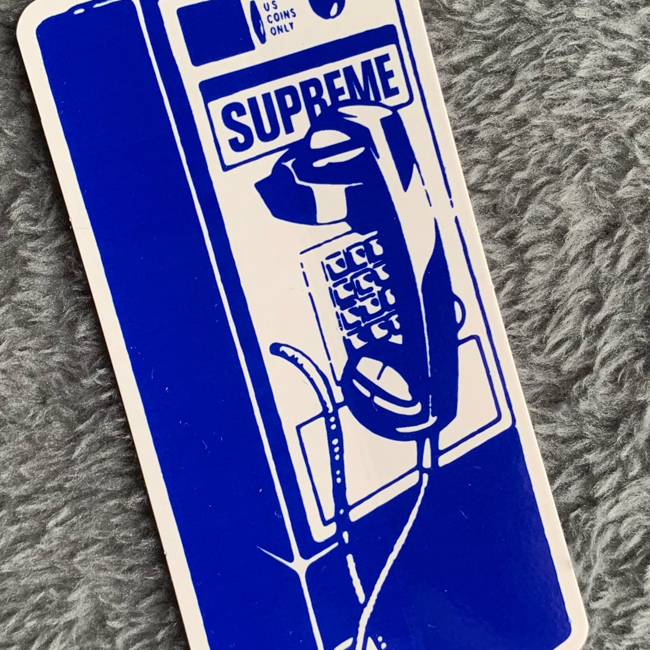 Supreme Payphone Sticker