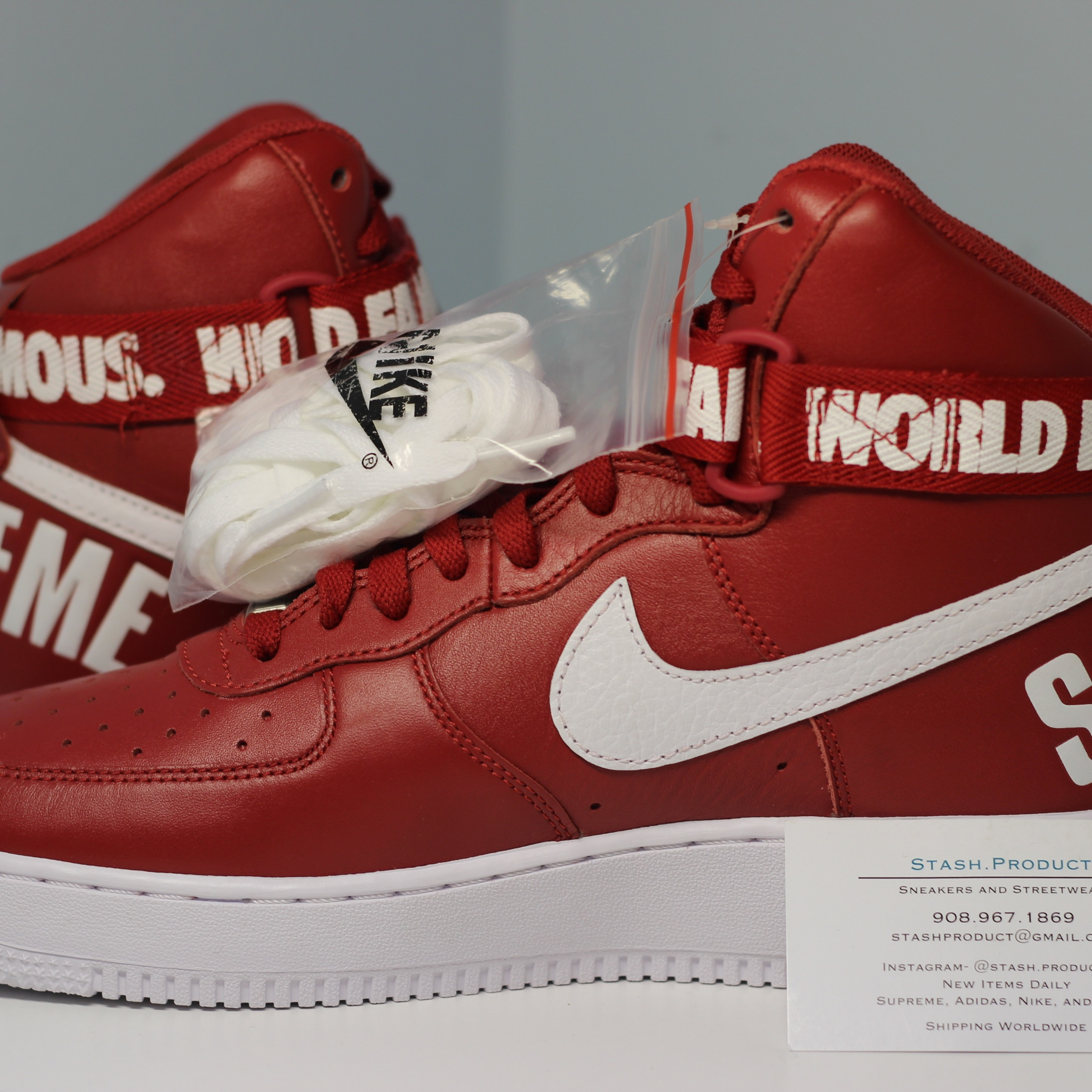 pretty nice a1157 48a04 Nike Air Force 1 High Supreme Sp World Famous Red