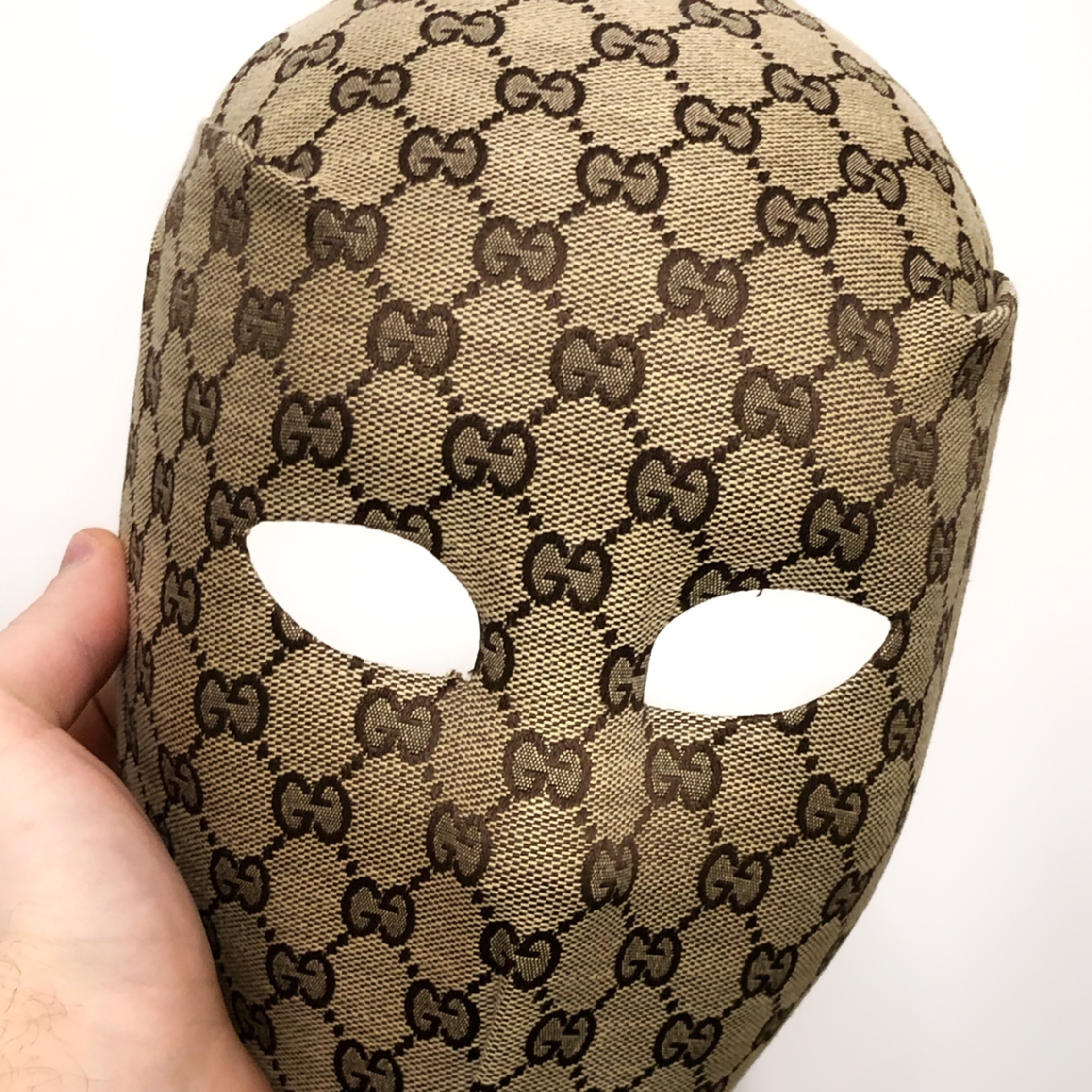 Gucci Head Face Mask Vintage Monogram Bag Custom