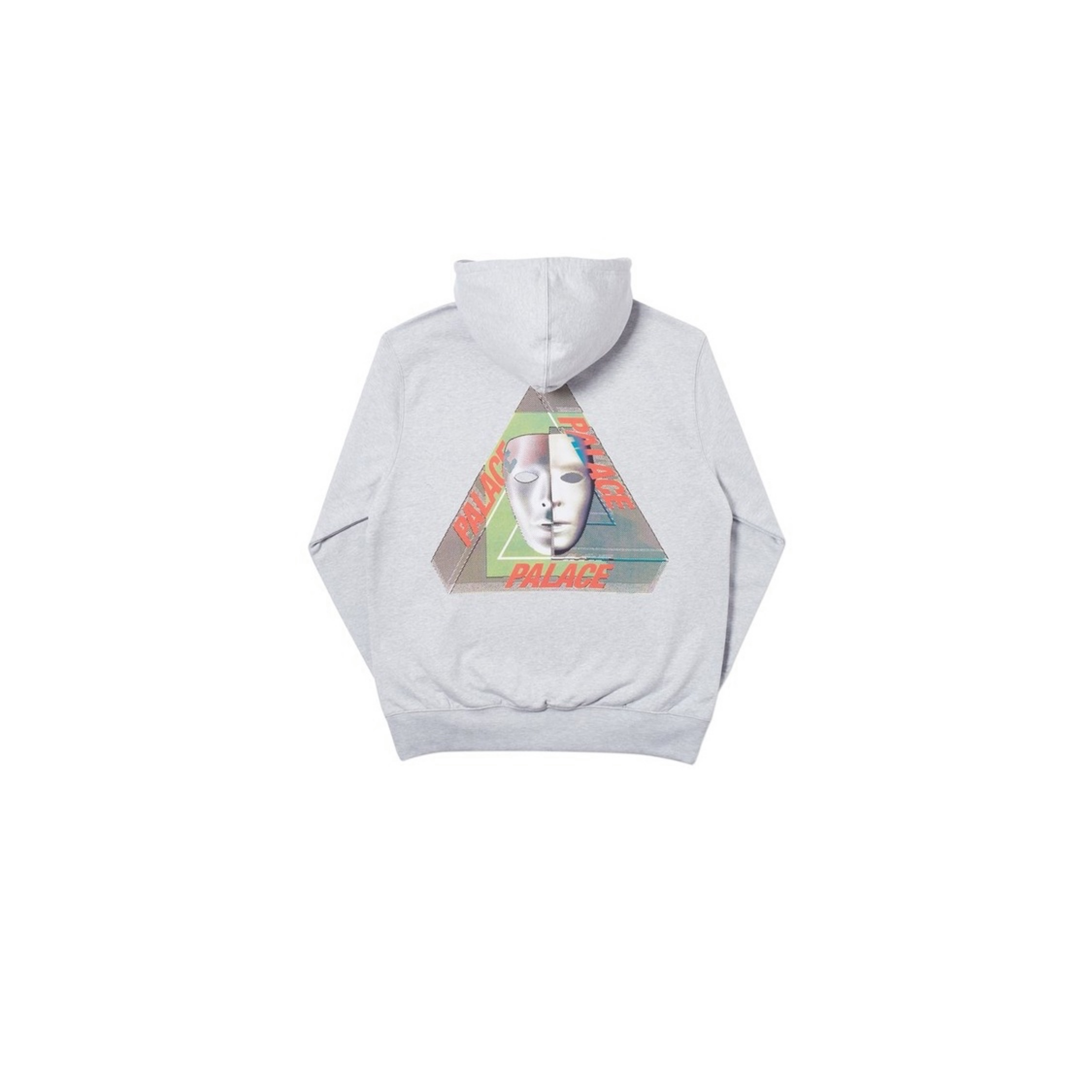 Palace Triferg Bury Mask Hoodie In Gray Marl