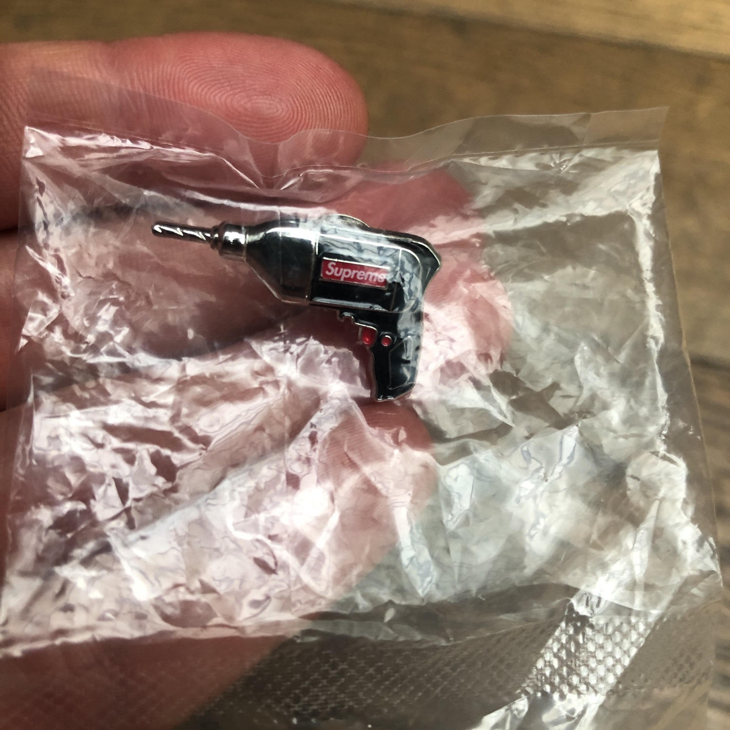 Supreme Power Drill Pin Black