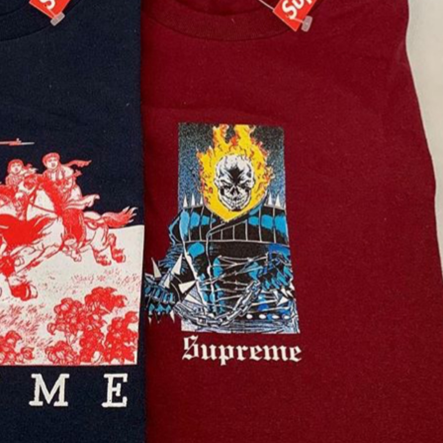 Supreme Ghost Rider Tee L