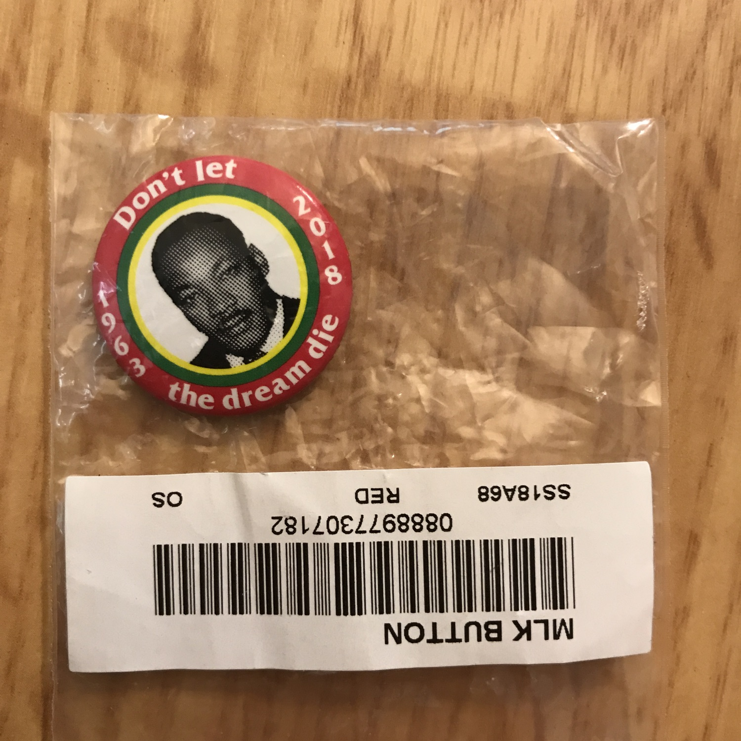 Supreme Mlk Pin
