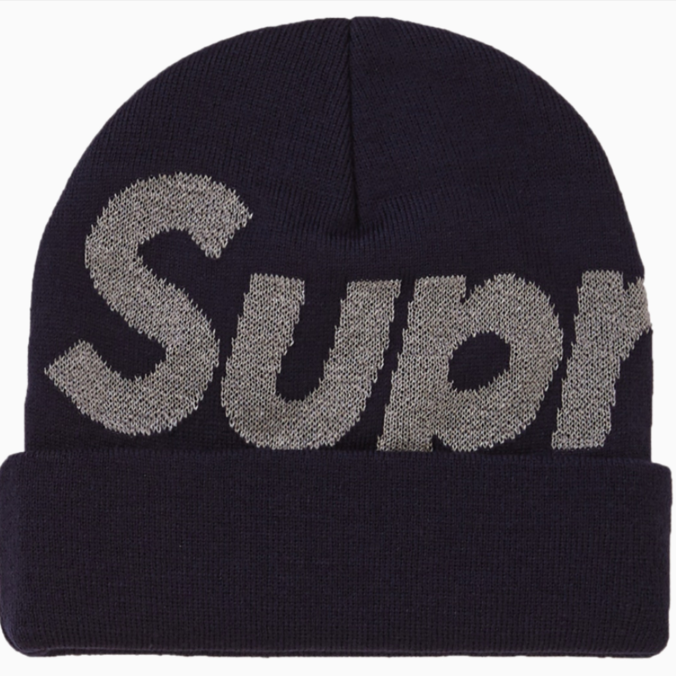 Supreme Big Logo Beanie (Fw18) Navy