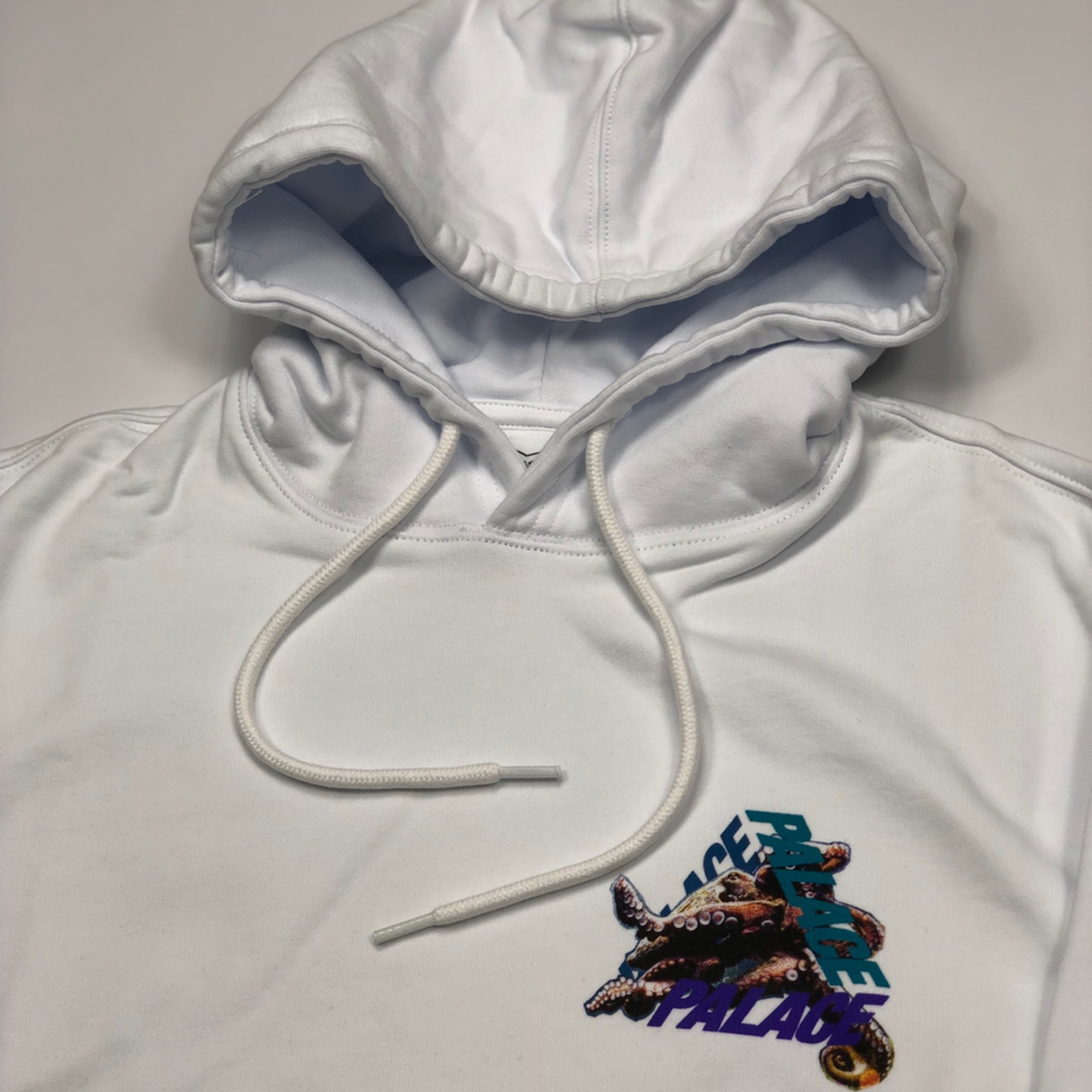 Palace Tri Ferg Octo Hoodie White New
