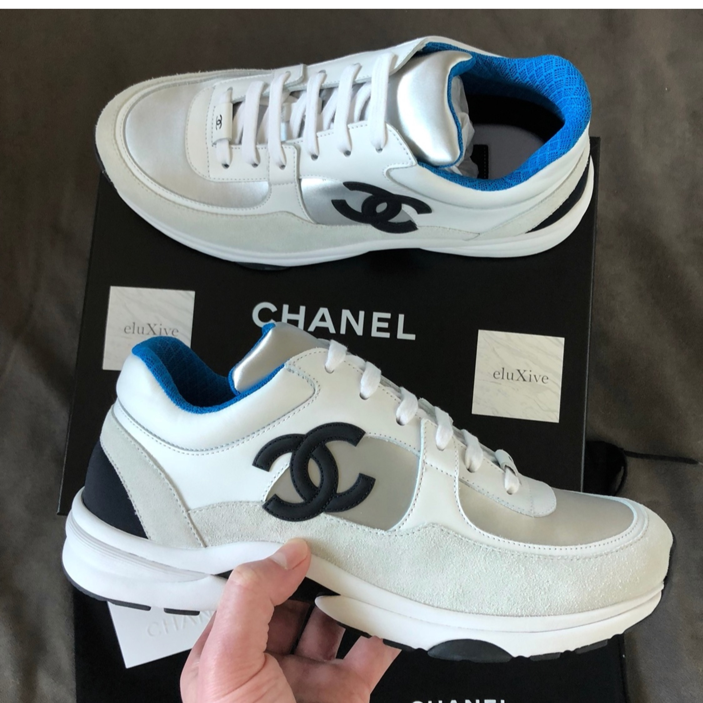Chanel 2018 Trainer Sneakers 18P Blue Ds