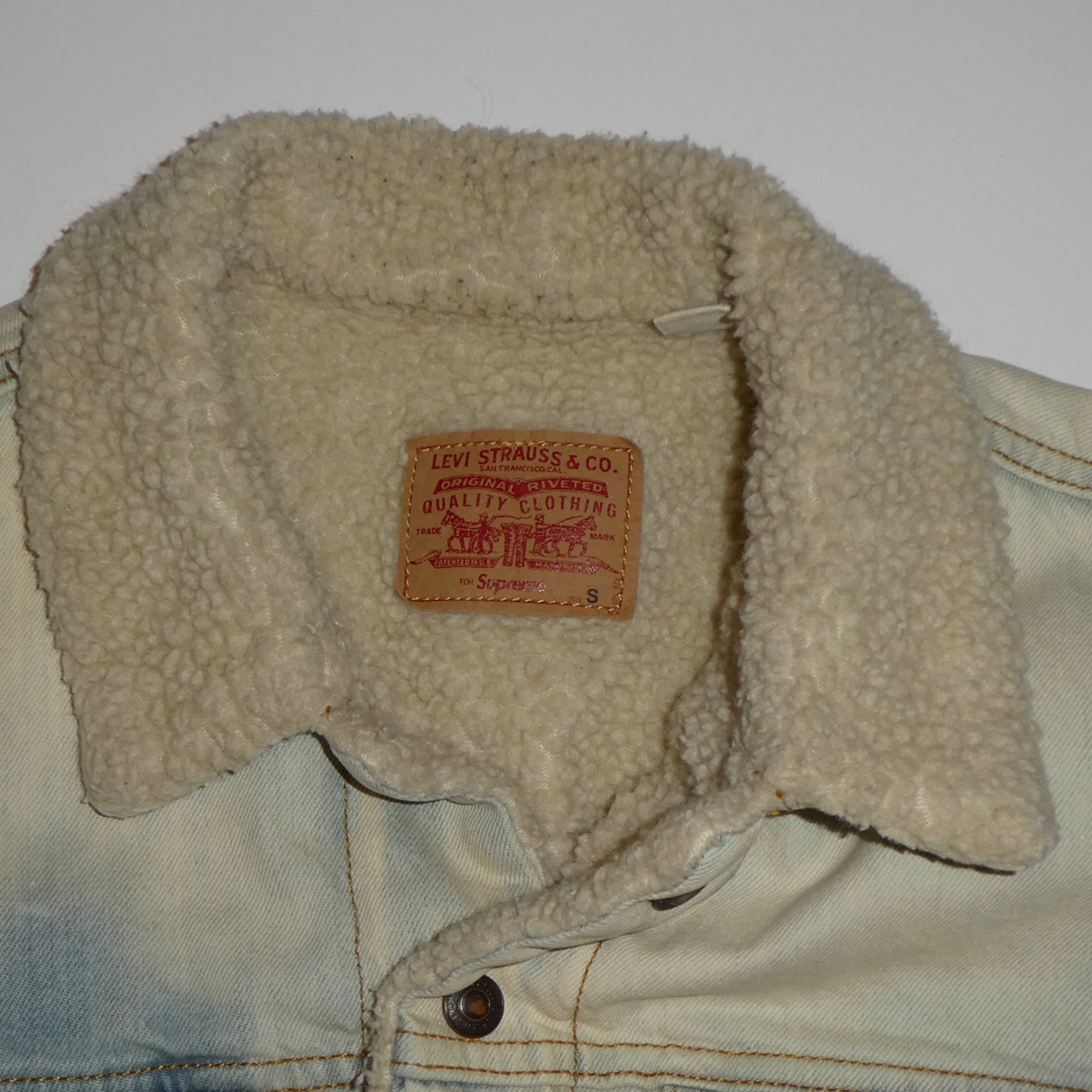 Supreme X Levi's Sherpa Lined Denim Jacket