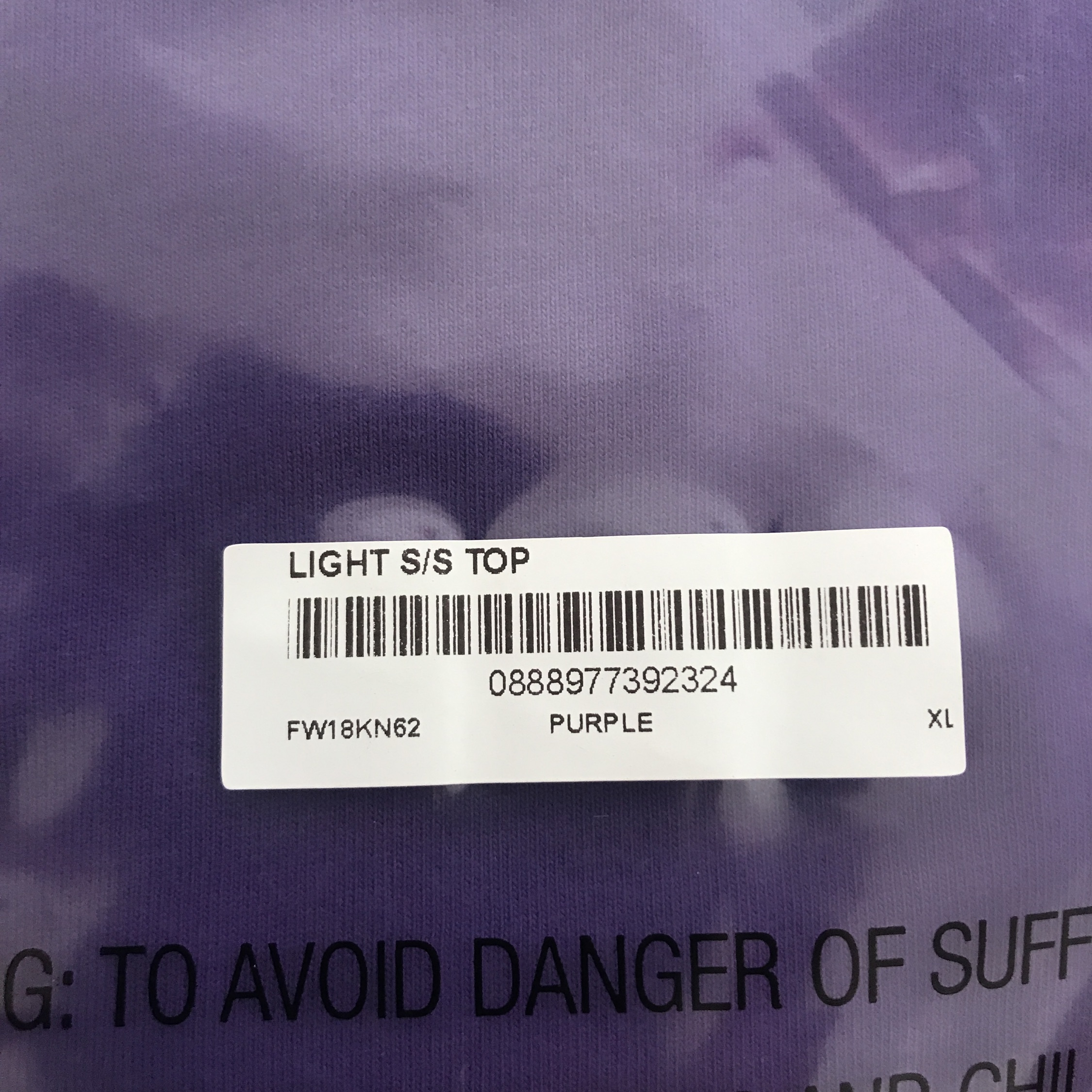 Supreme Light Ss Top Purple