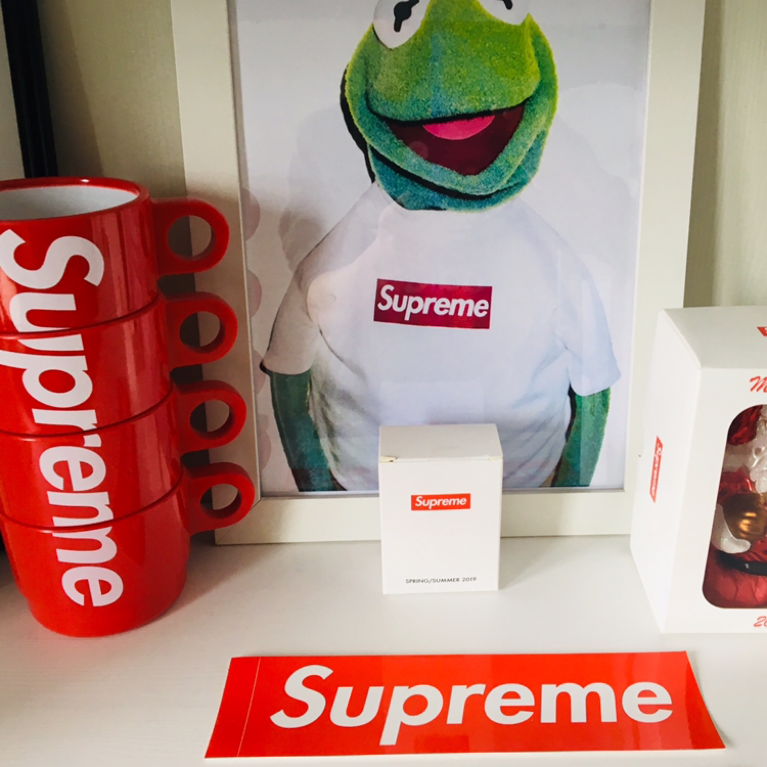 1 Supreme Red Box Logo Sticker