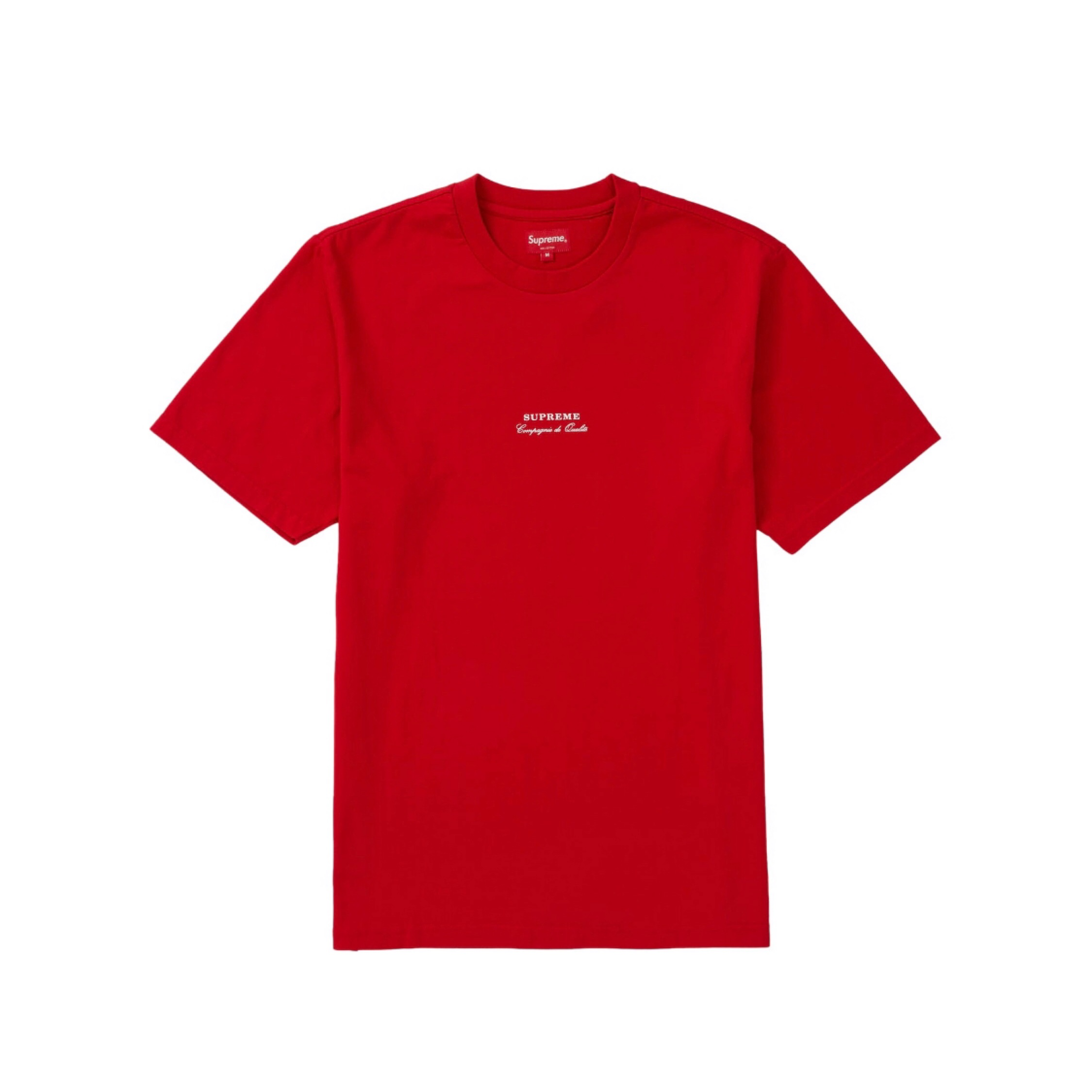 Supreme Qualite Tee In Red Ss19