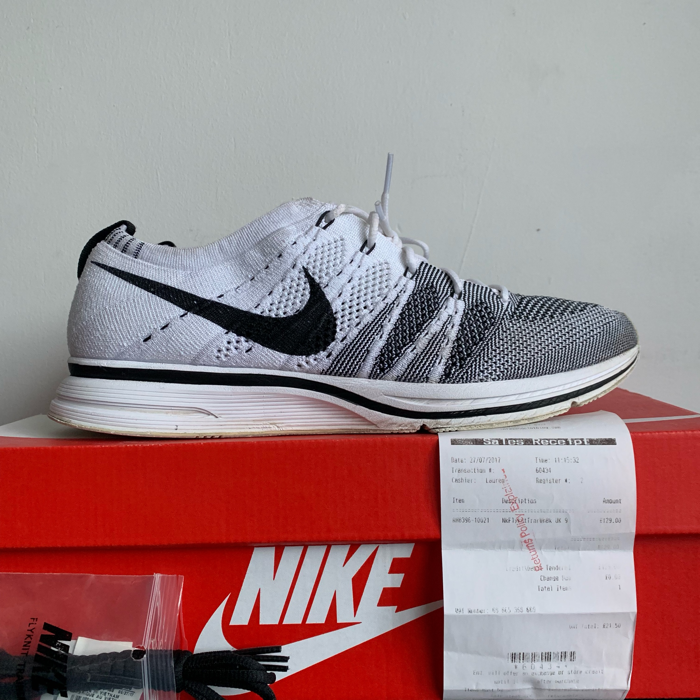 Nike Flyknit Trainer / Kanye West Colourway / Uk 9