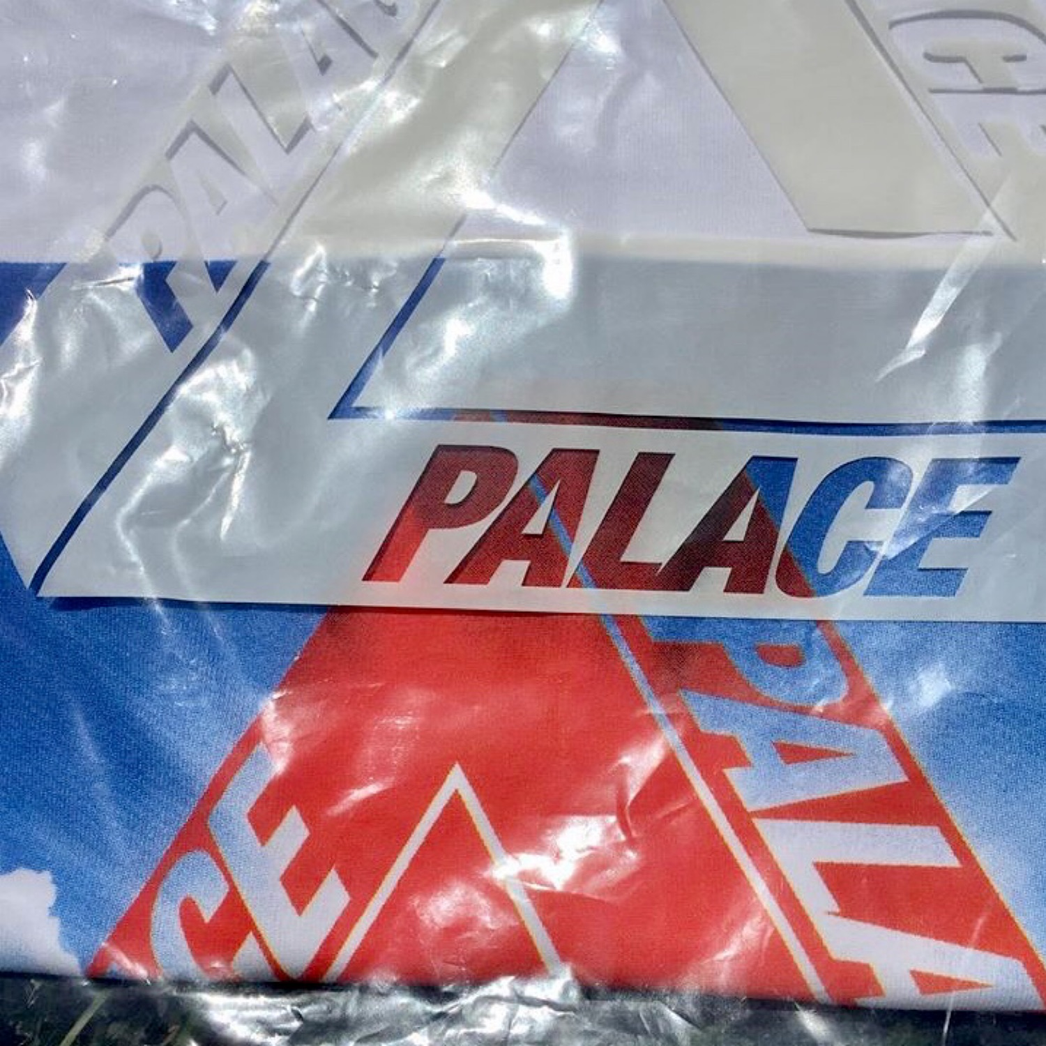 """Palace Skateboards """"Tri-Ternity"""" White Graphic Tee"""