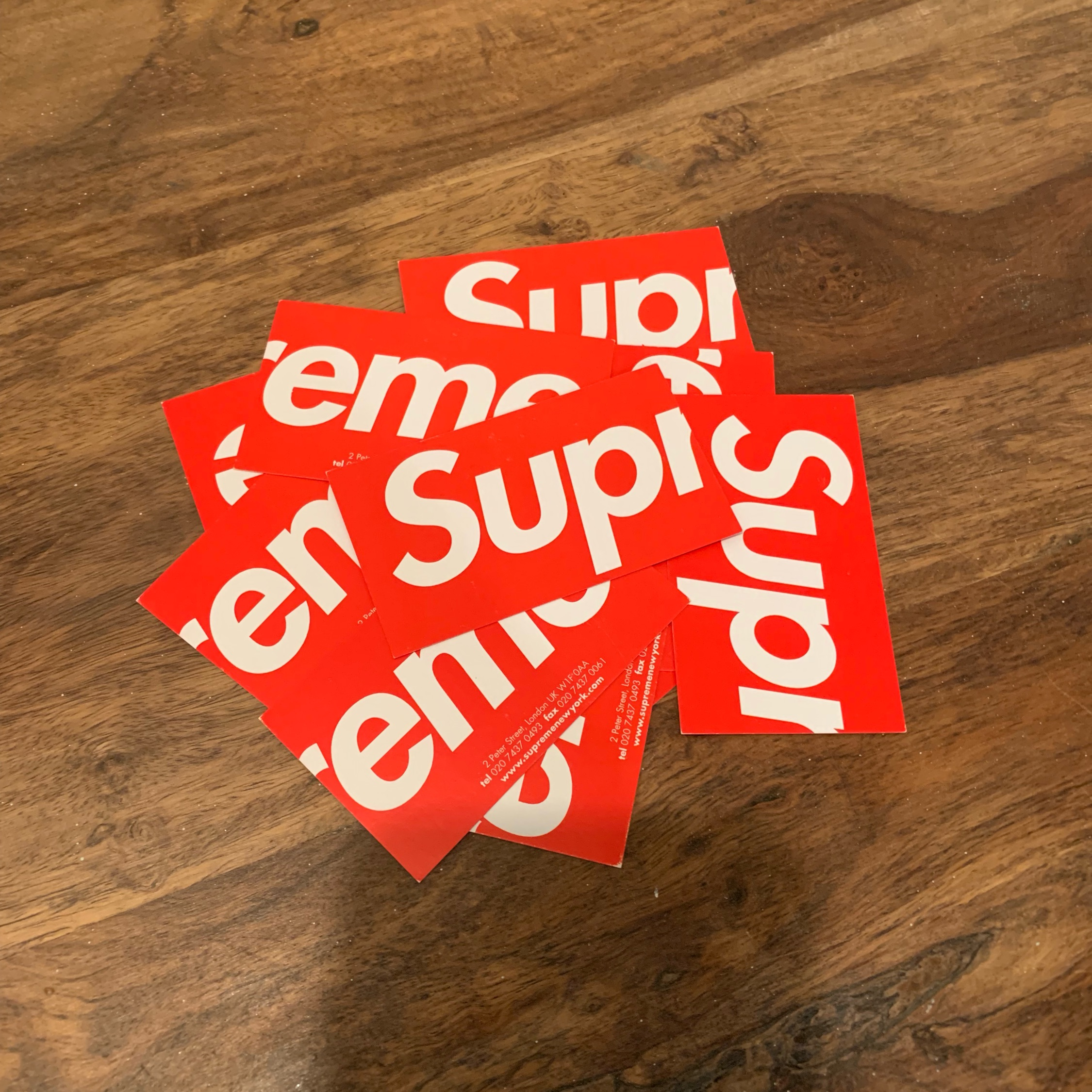 Supreme London Business Cards