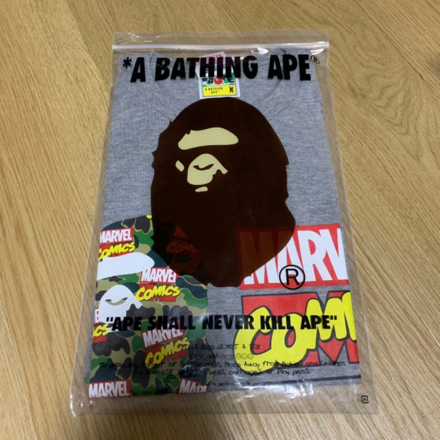 Bape X Marvel Comics Tee