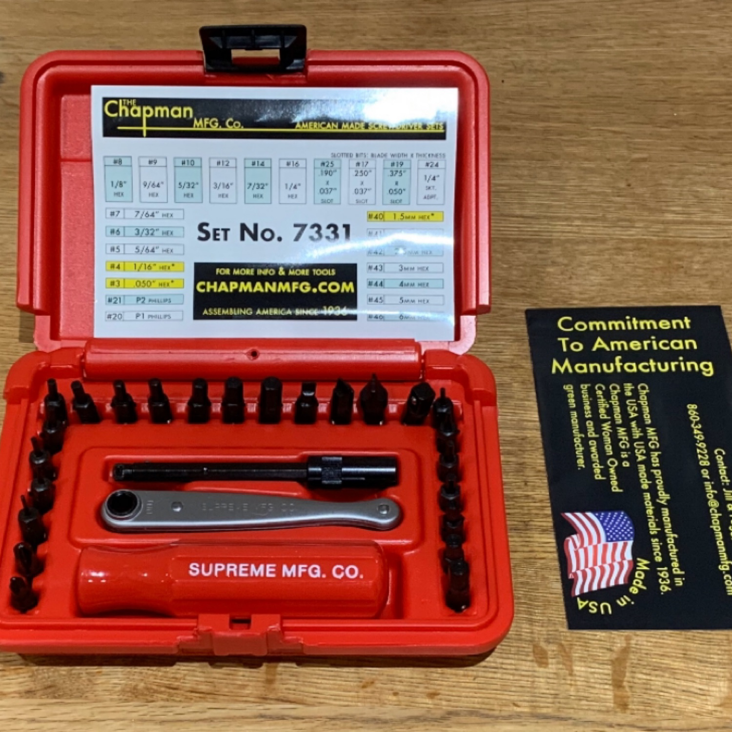 Supreme Chapman Screwdriver Set