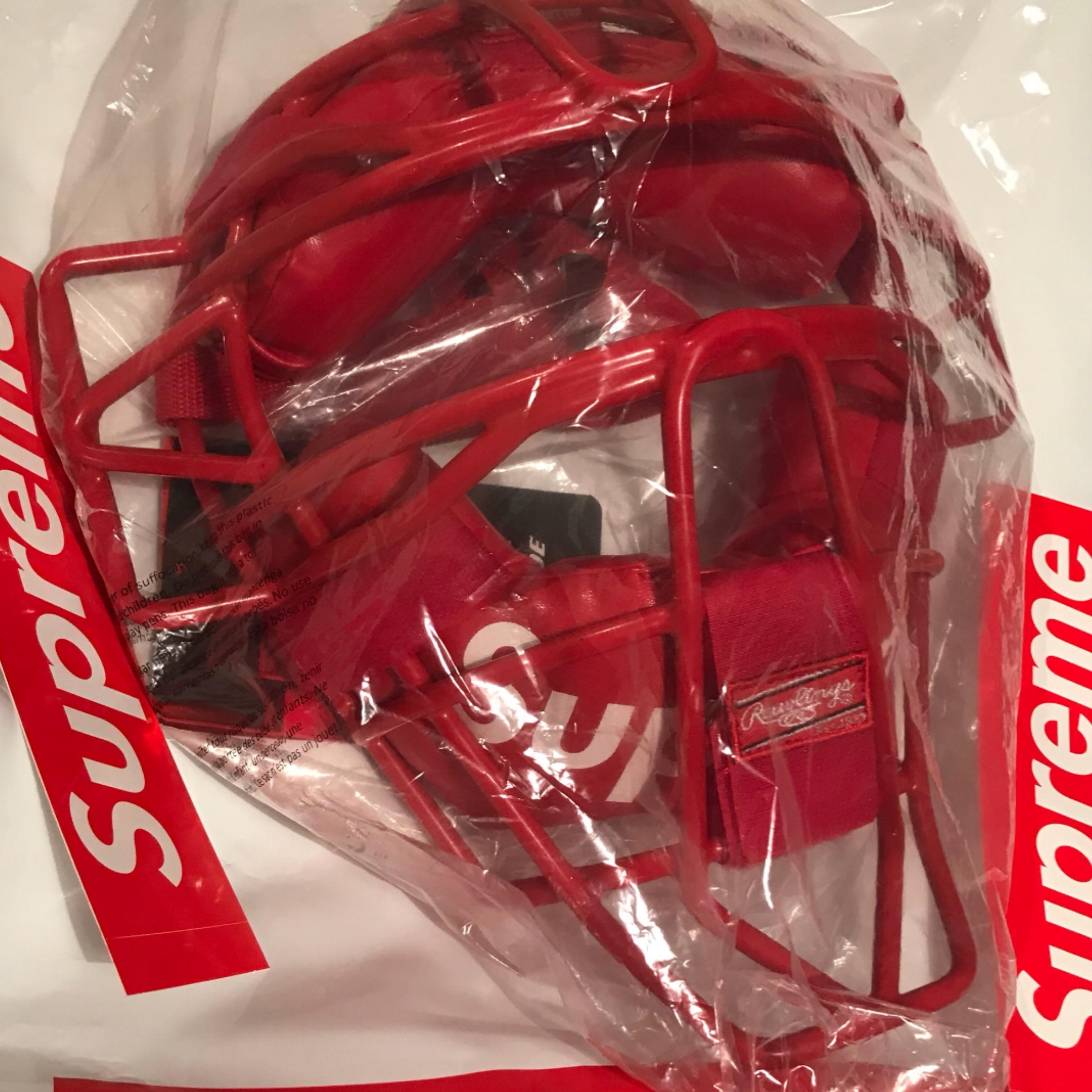 Ss18 Supreme X Rawlings Catcher's Mask