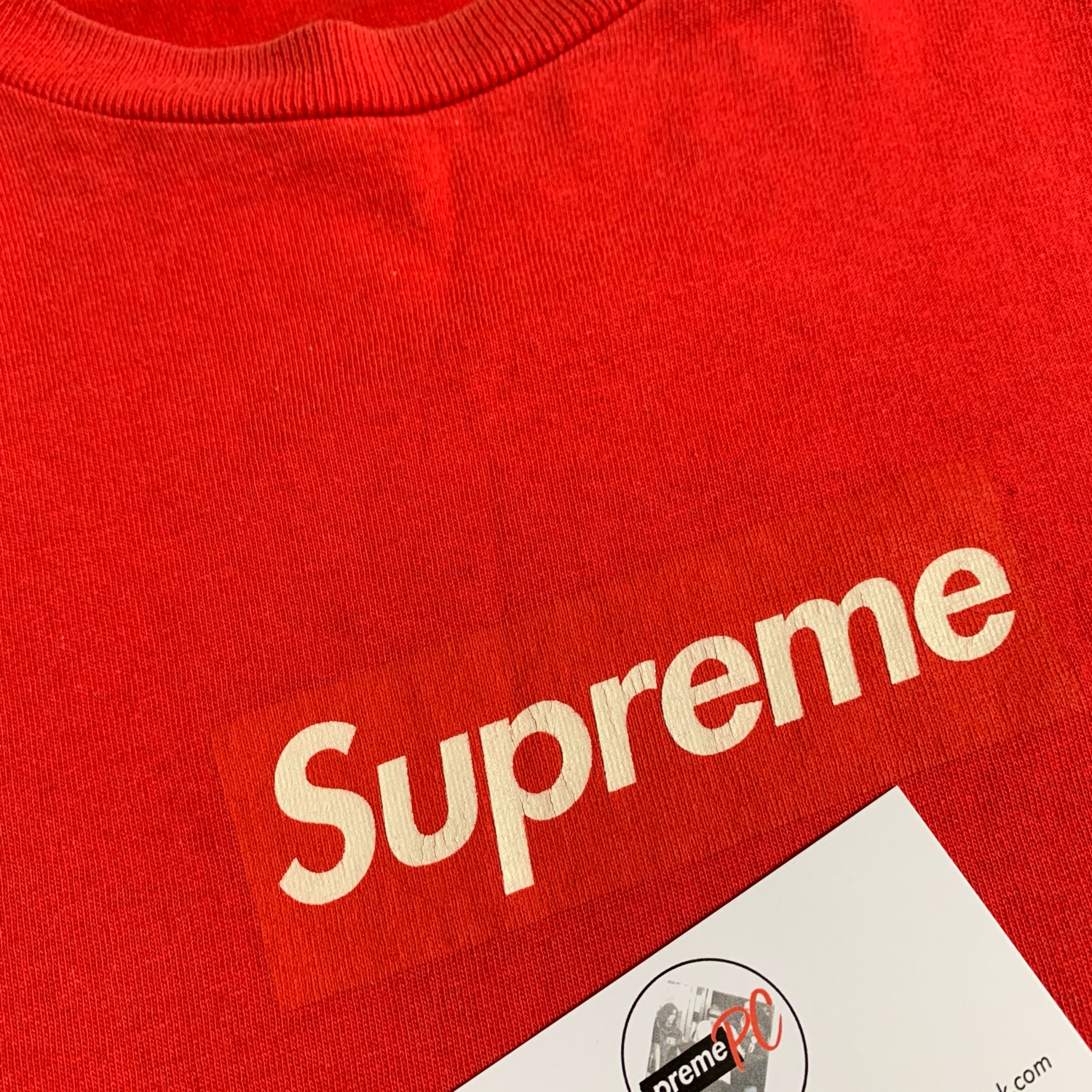 Supreme Box Logo Tee Red On Red 2003