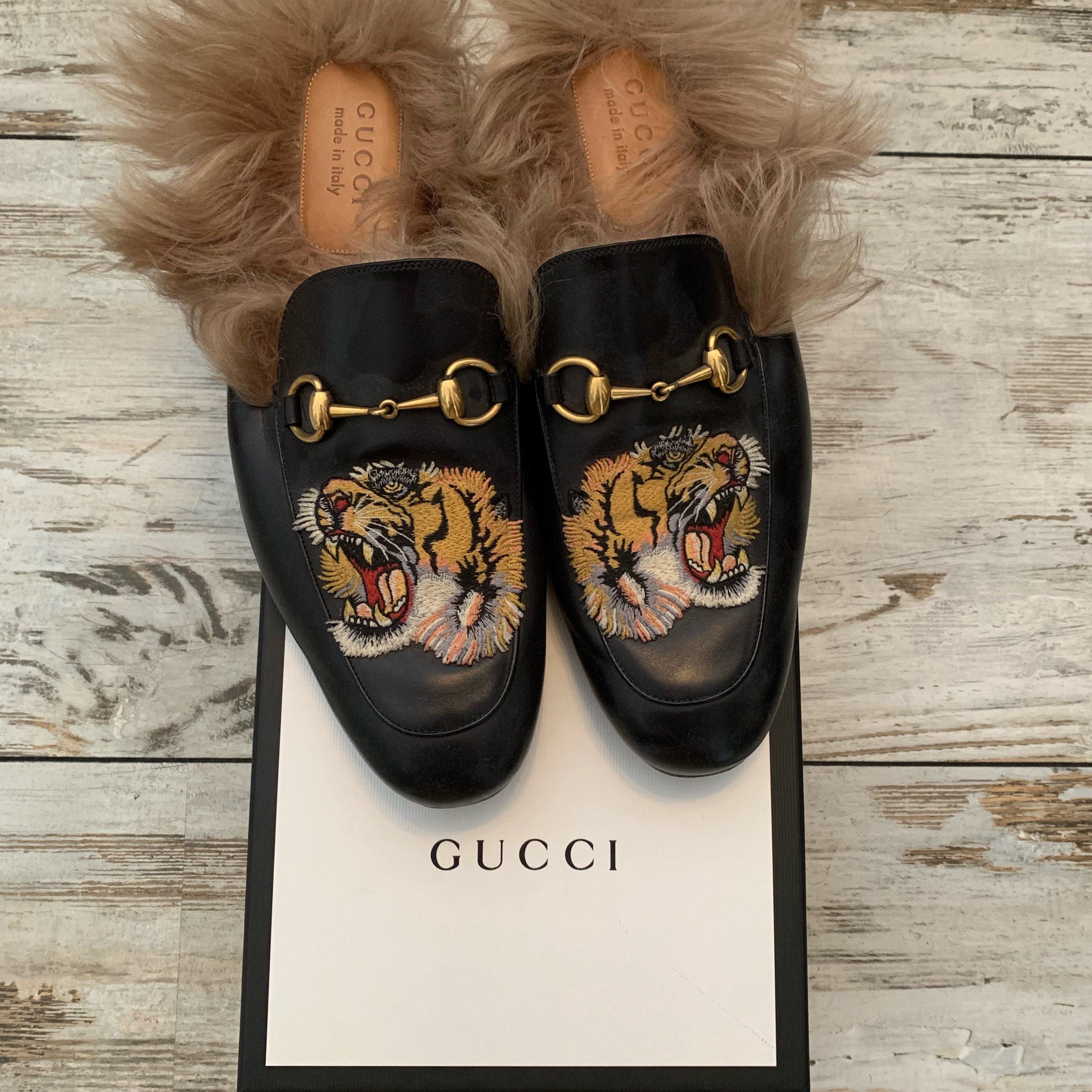 Gucci Tiger Loafers/Shoes/Slippers Gucci 10/Eu 44