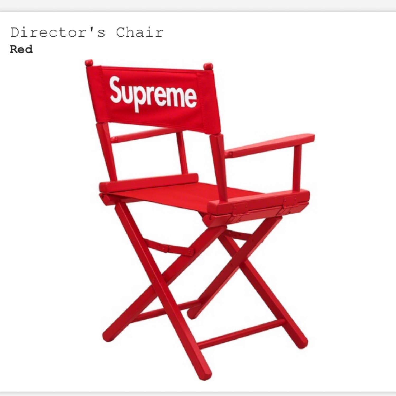 Supreme Directors Chair Red (Unopened)