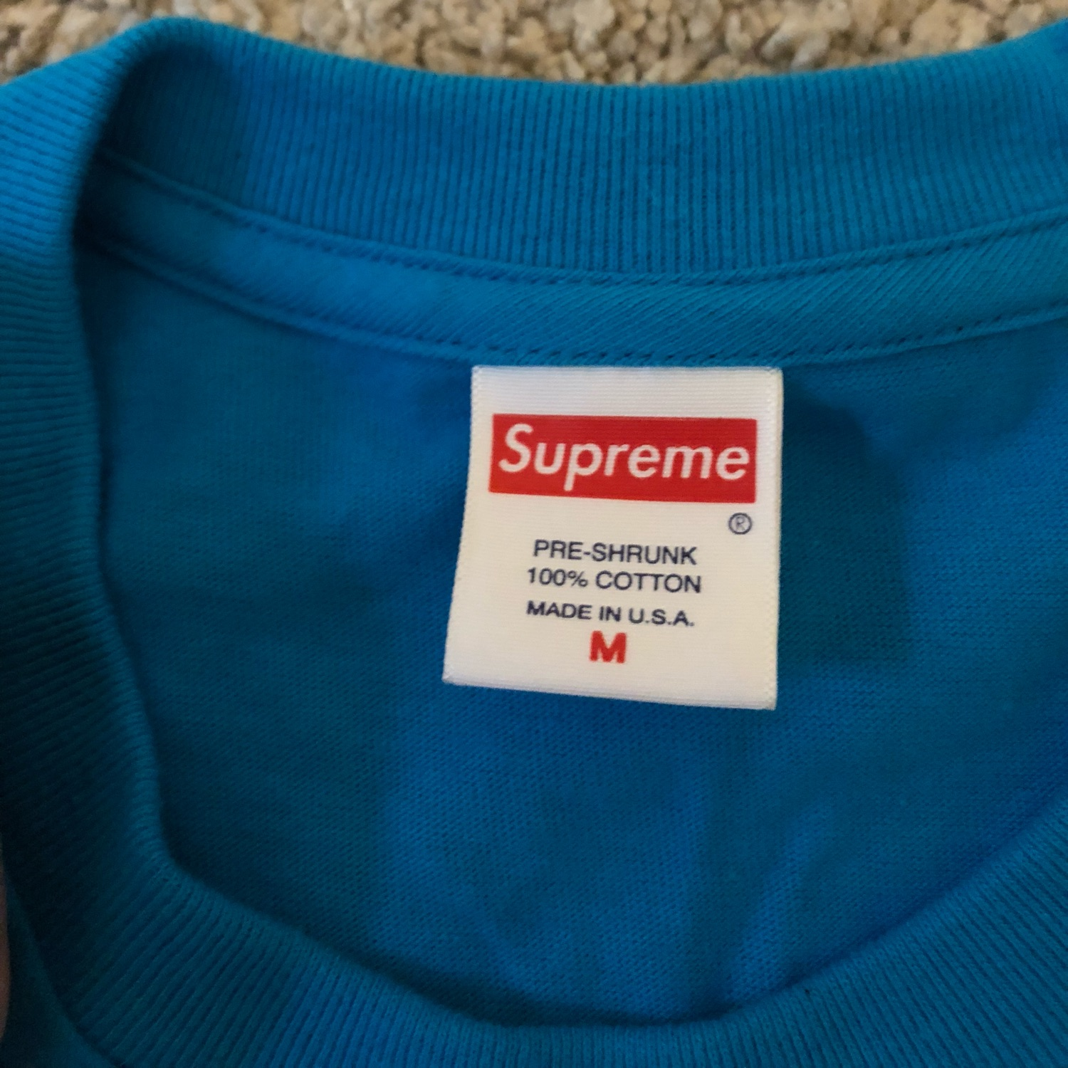 Supreme Bottle Cap Tee Bright Blue M