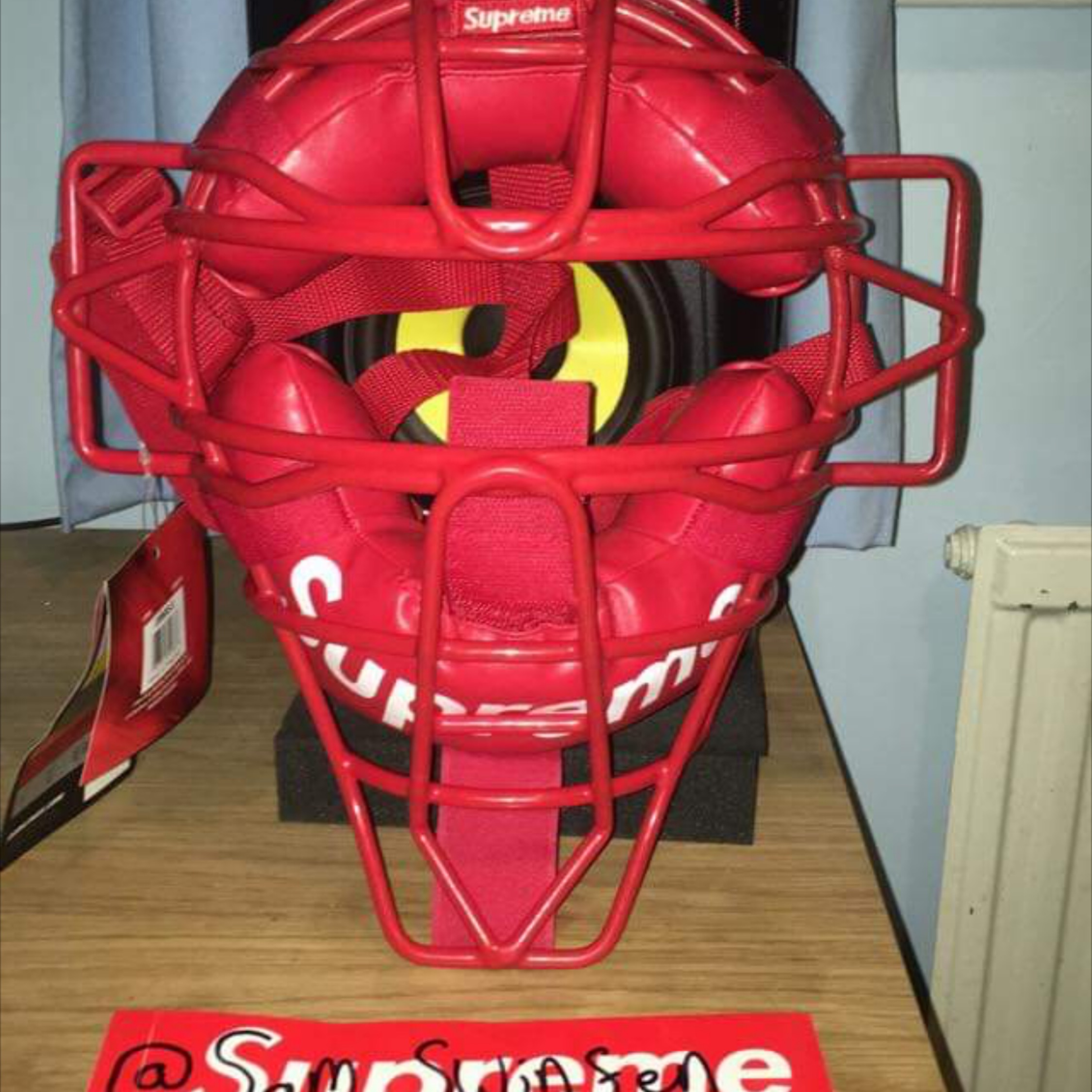 Supreme Rawlings Catchers Mask Red