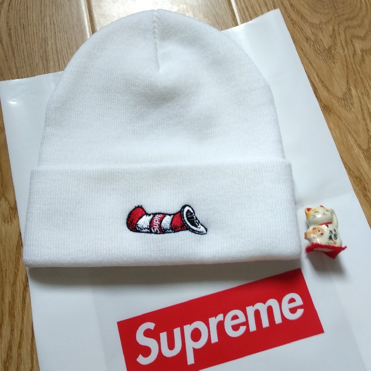 Supreme Cat In The Hat Beanie White FW18